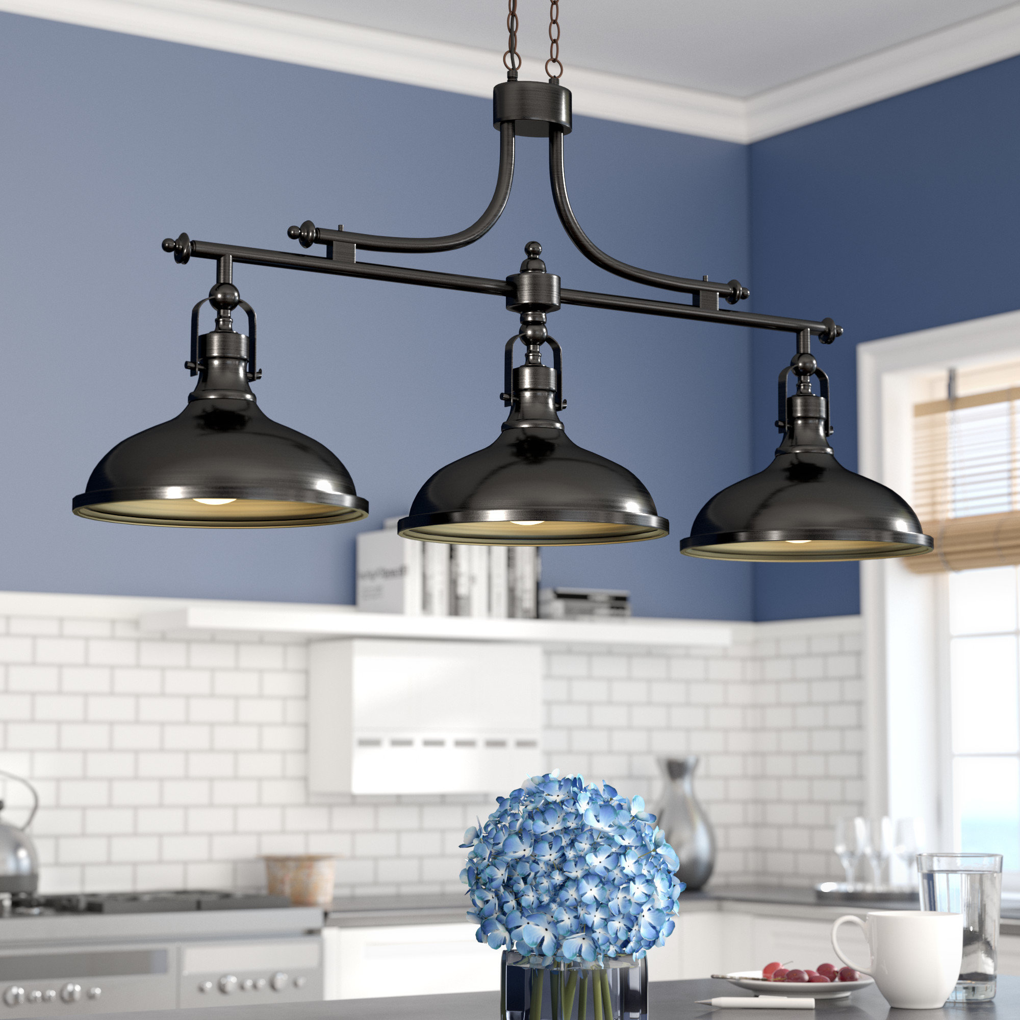 """Euclid 2 Light Kitchen Island Linear Pendants Inside Most Current Oversized (Greater Than 30"""" Wide) Pendant Lighting Sale – Up (Gallery 19 of 25)"""