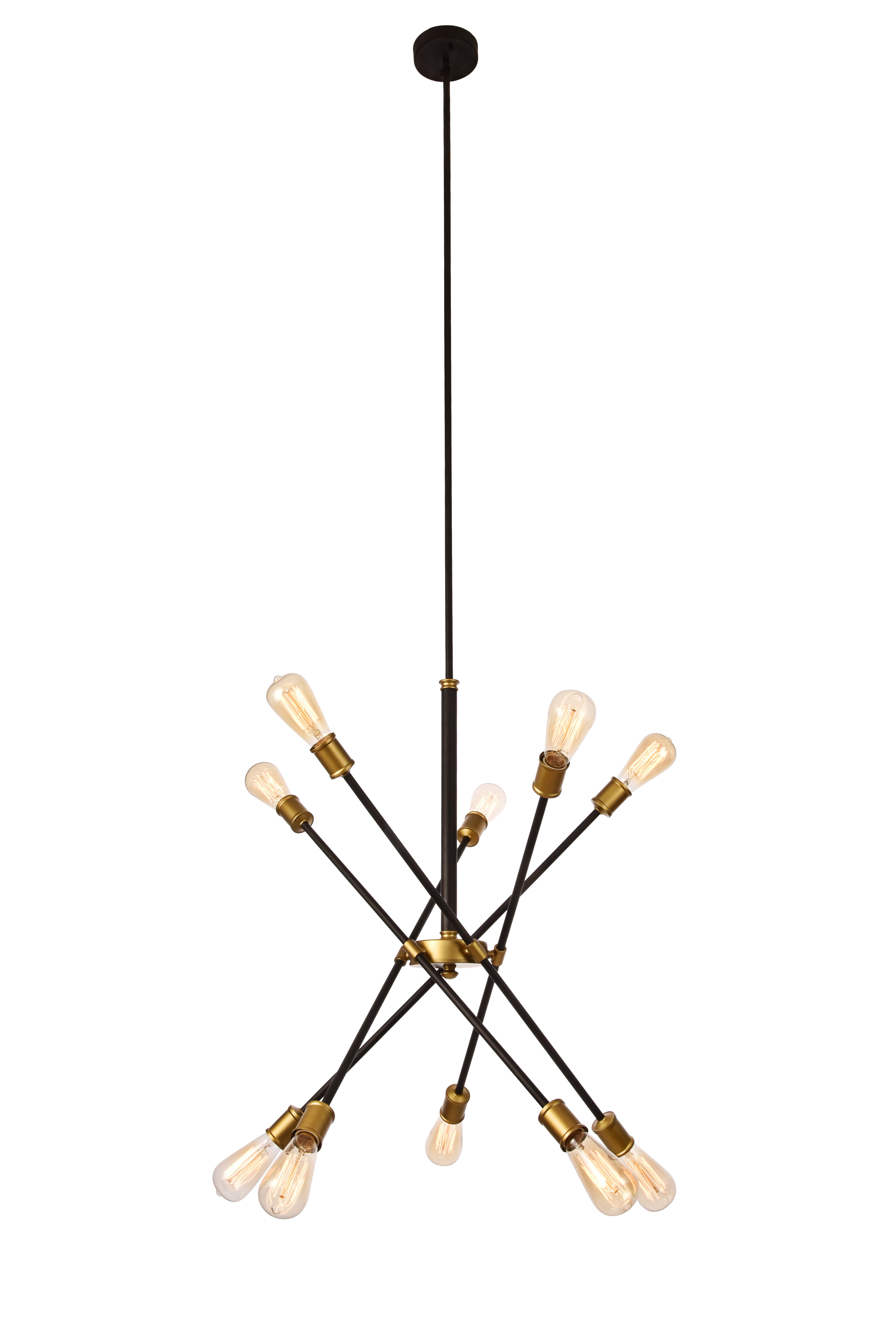 Everett 10-Light Sputnik Chandelier intended for Recent Johanne 6-Light Sputnik Chandeliers