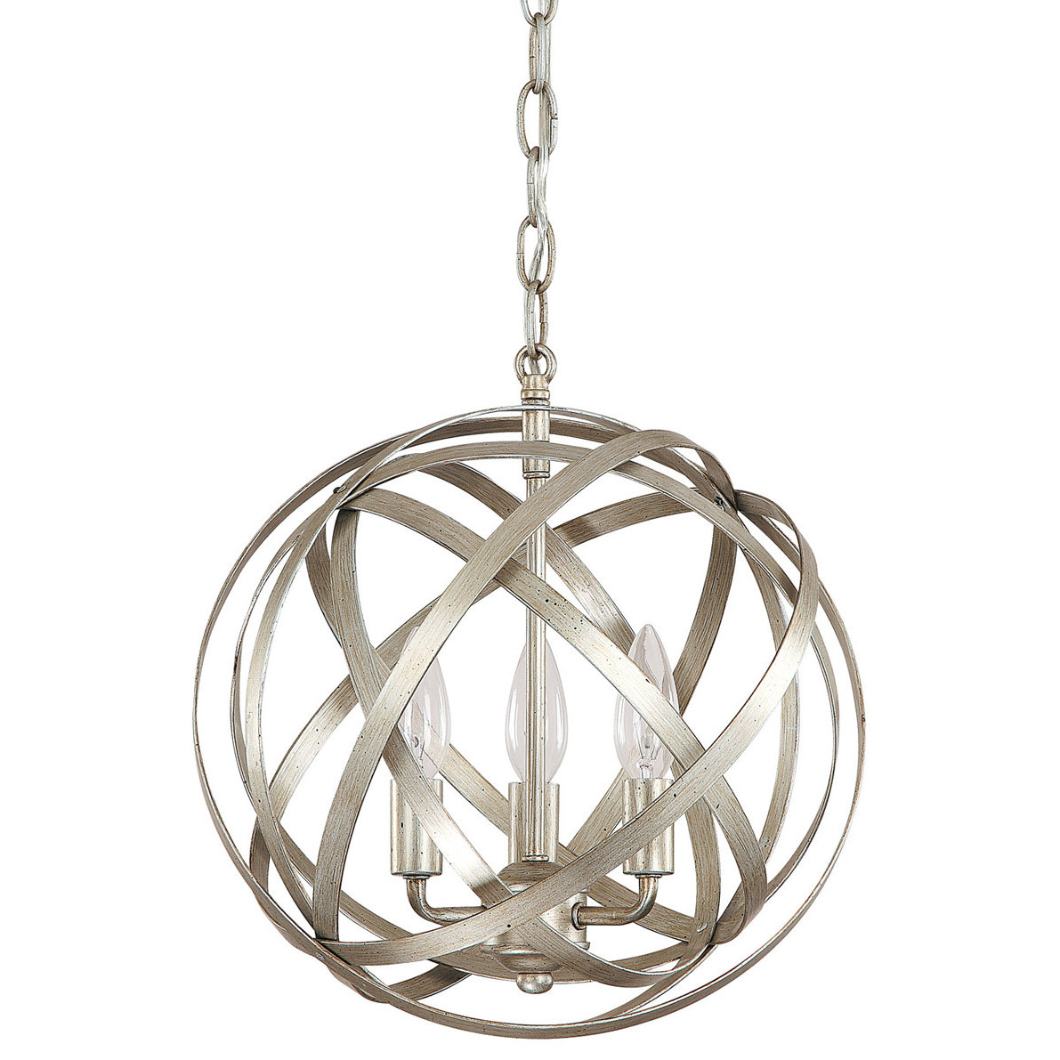 Everly Quinn Adcock 3-Light Globe Pendant with regard to Current Adcock 3-Light Single Globe Pendants