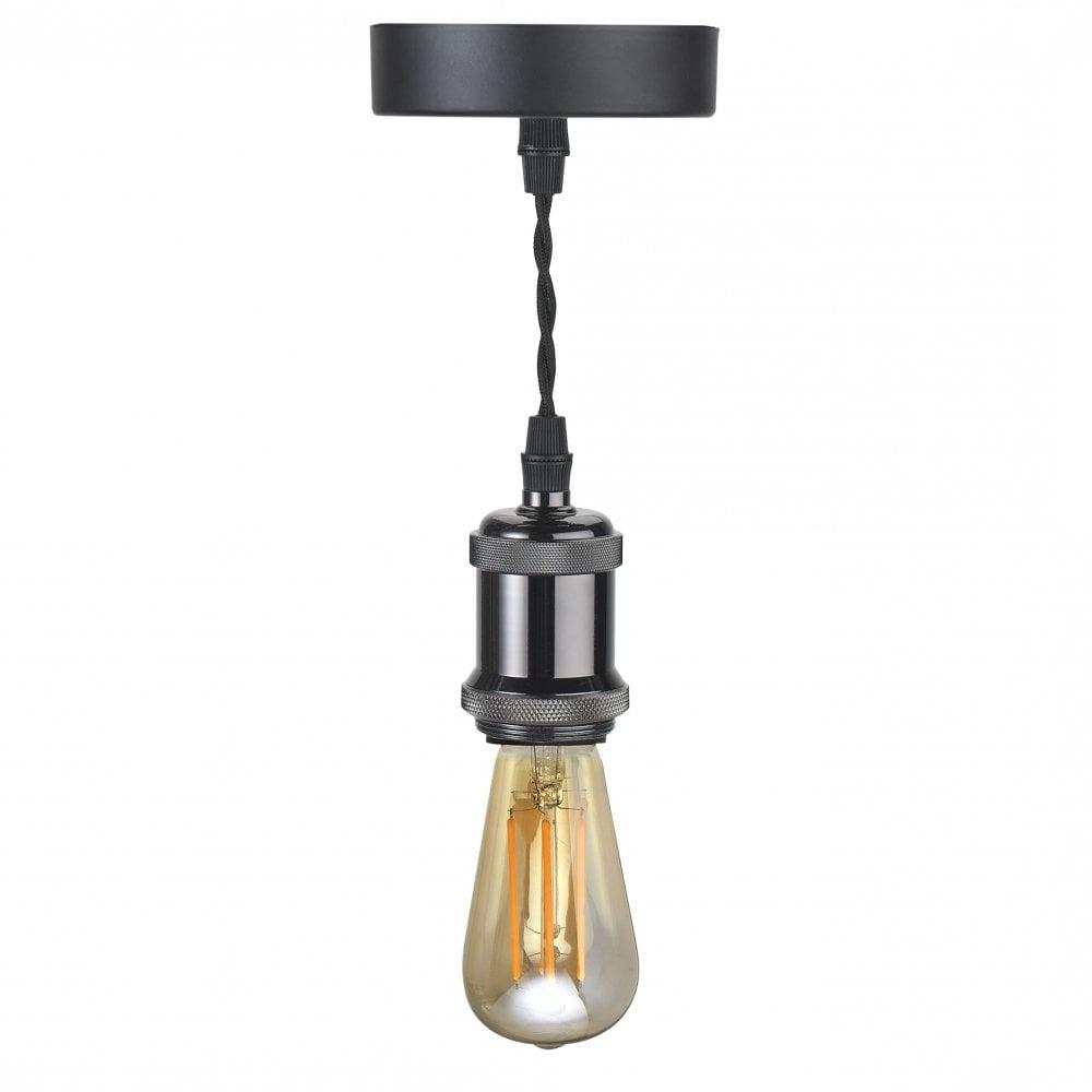 Famous 10300 1 Light Vintage Ceiling Pendant Gunmetal Black Intended For 1 Light Single Bell Pendants (View 18 of 25)