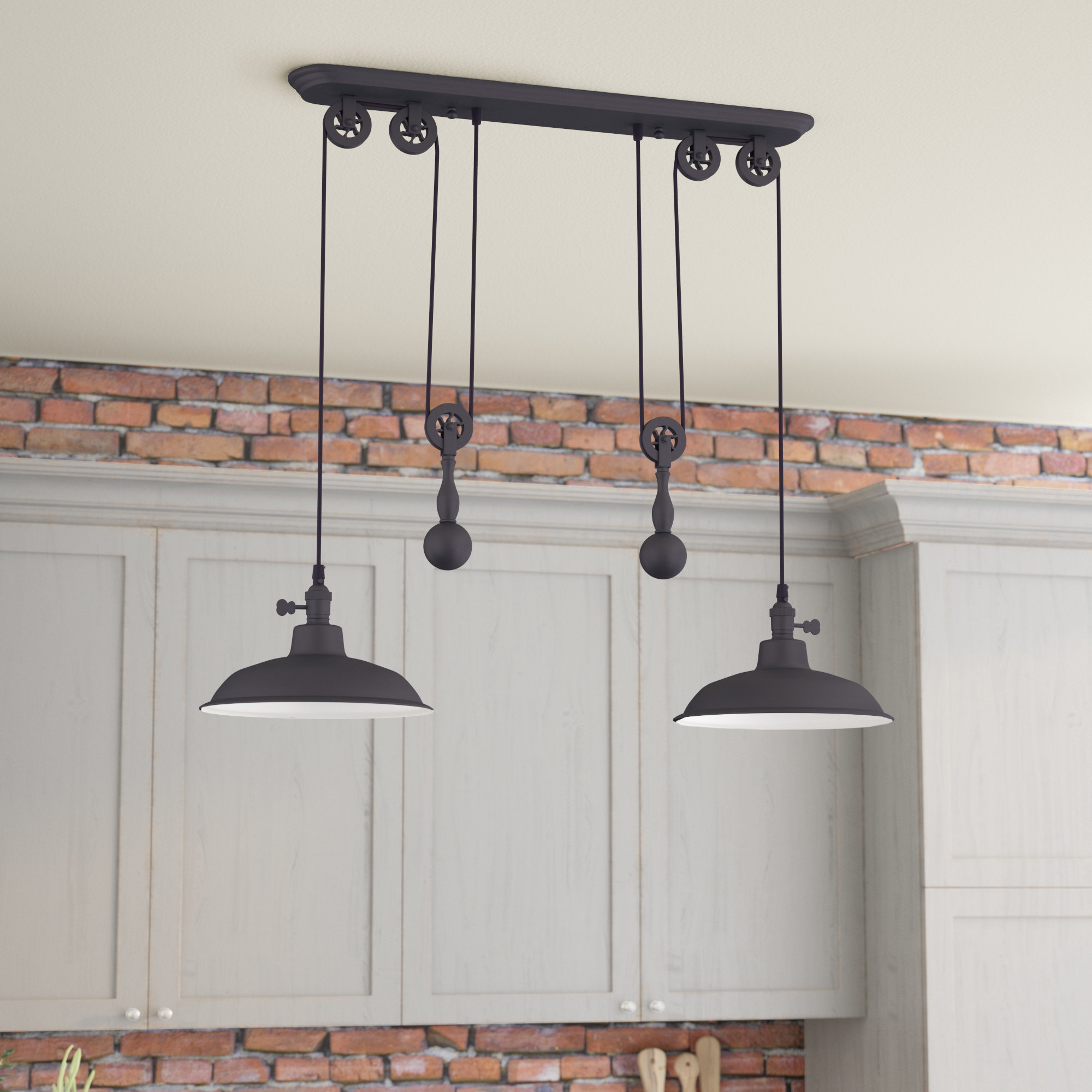 Famous Ariel 2 Light Kitchen Island Dome Pendant With Regard To Ariel 3 Light Kitchen Island Dome Pendants (View 2 of 25)