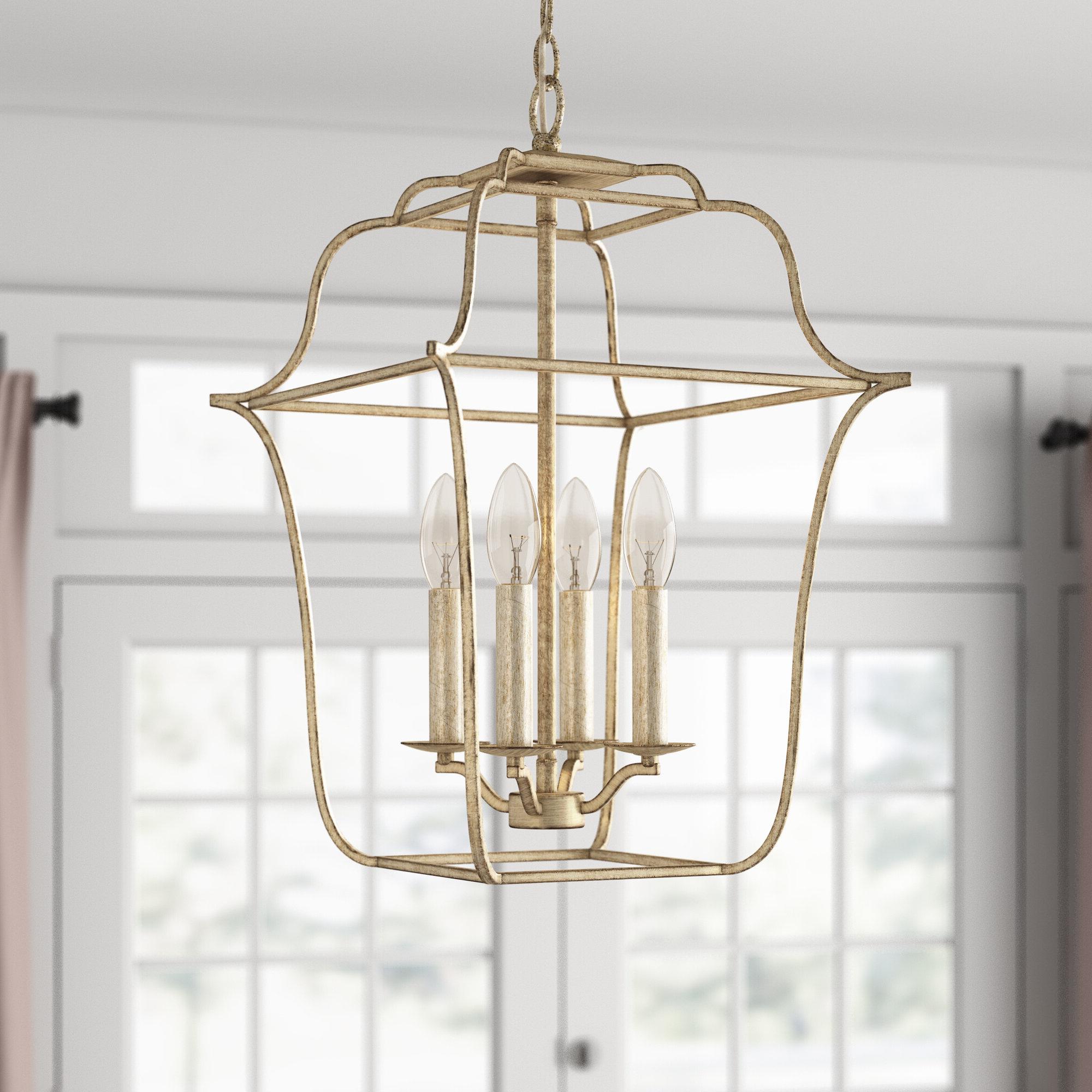 Famous Chloe 4 Light Lantern Geometric Pendant & Reviews (View 12 of 25)
