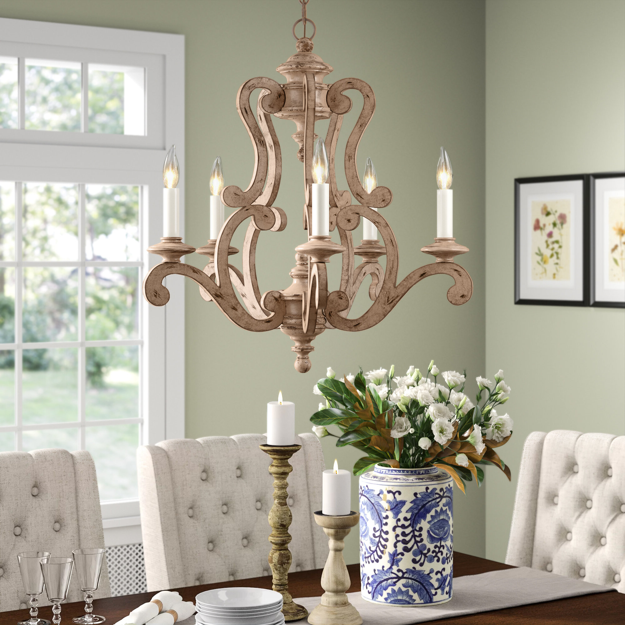 Famous Corneau 5 Light Chandeliers Within Guglielmo 5 Light Candle Style Chandelier (View 12 of 25)