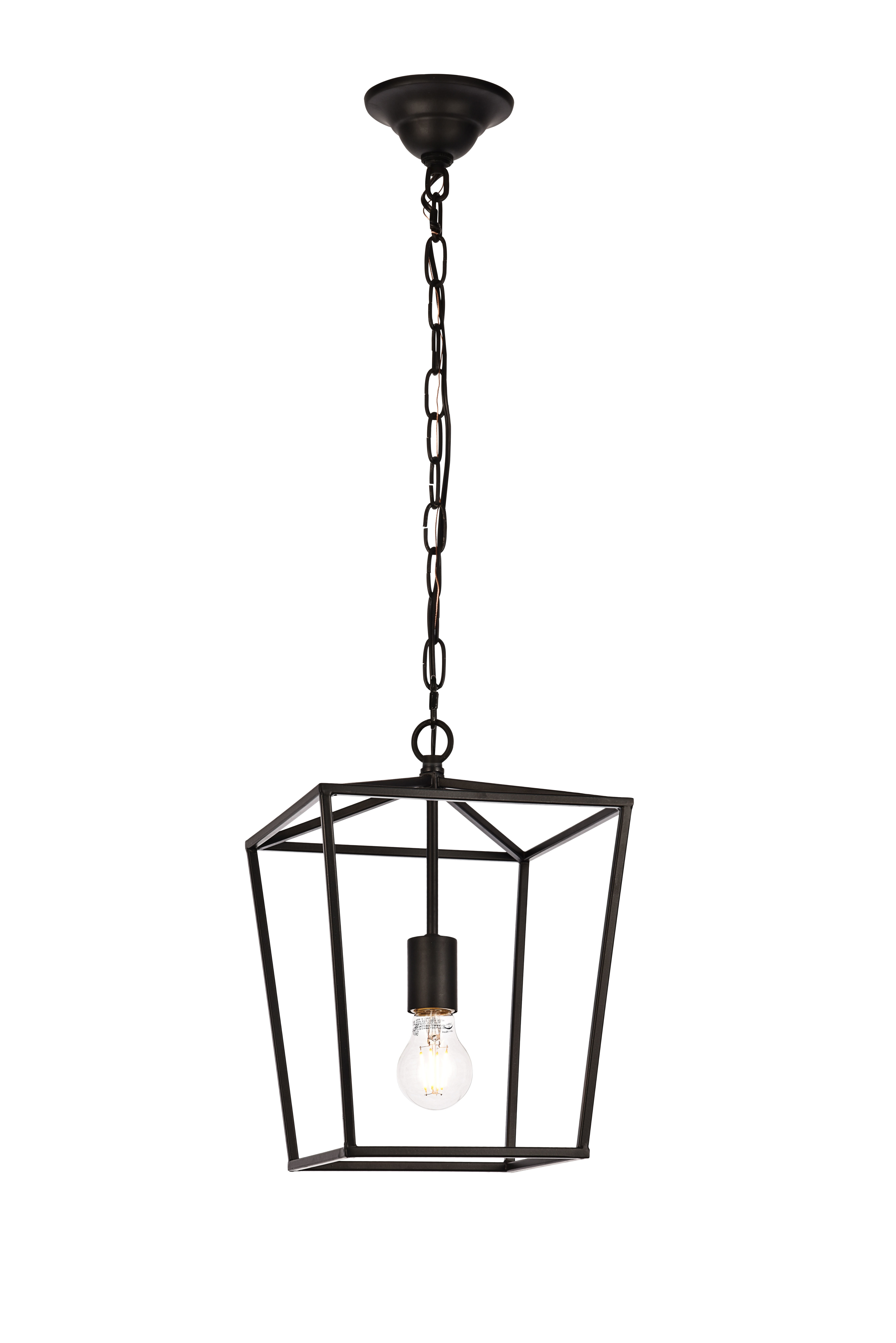 Famous Delon 1 Light Lantern Geometric Pendants For Finnick 1 Light Geometric Pendant (View 11 of 25)