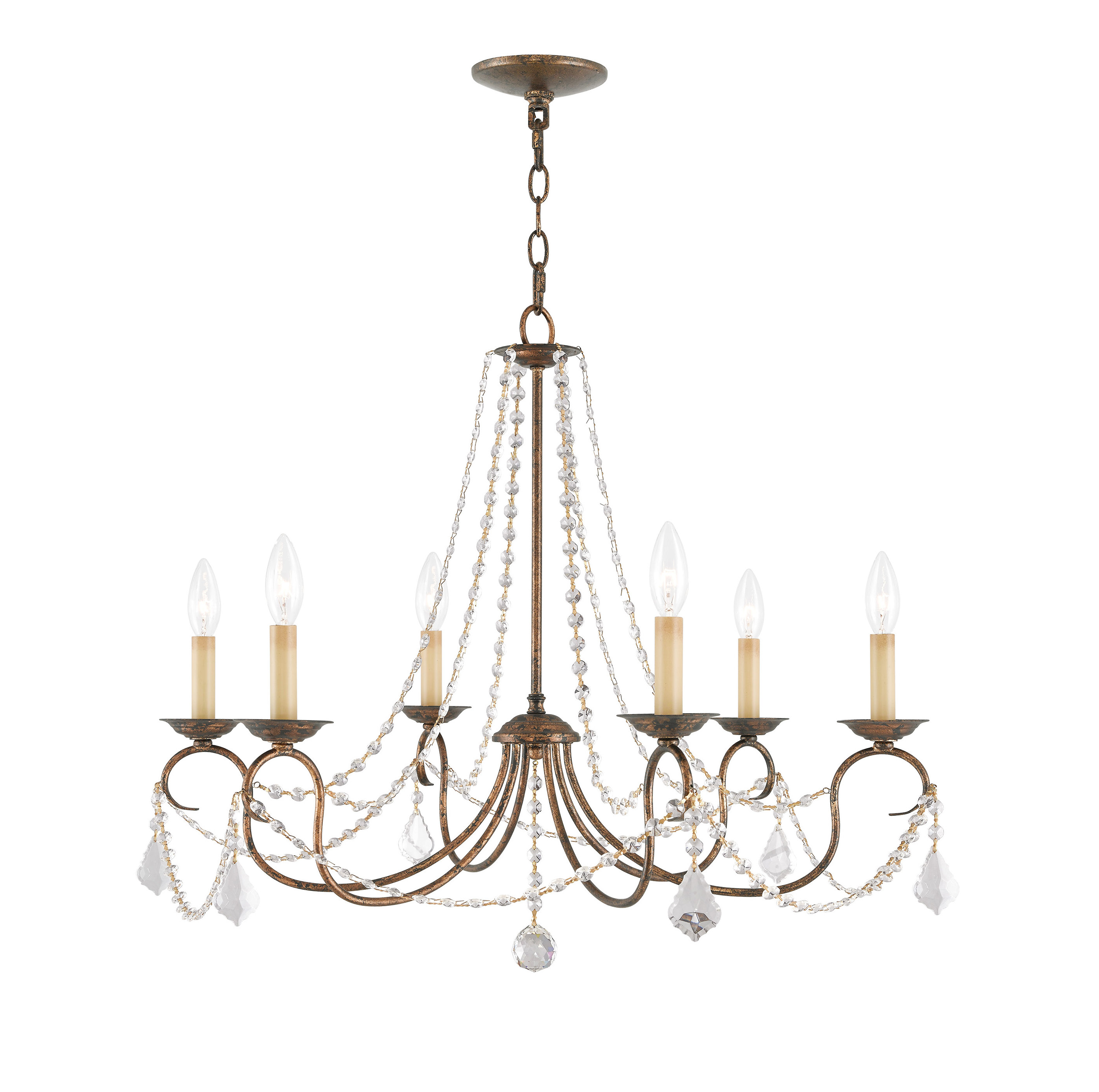 Famous Devana 6 Light Candle Style Chandelier With Diaz 6 Light Candle Style Chandeliers (View 12 of 25)
