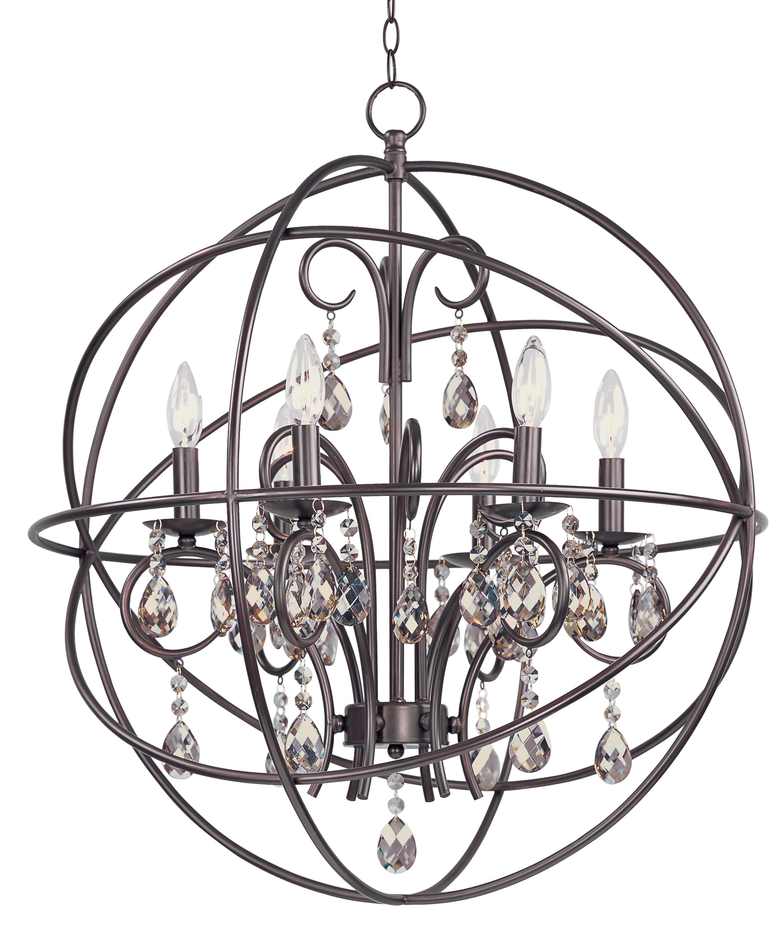 Famous Eastbourne 6 Light Unique / Statement Chandeliers Pertaining To Alden 6 Light Globe Chandelier (View 9 of 25)