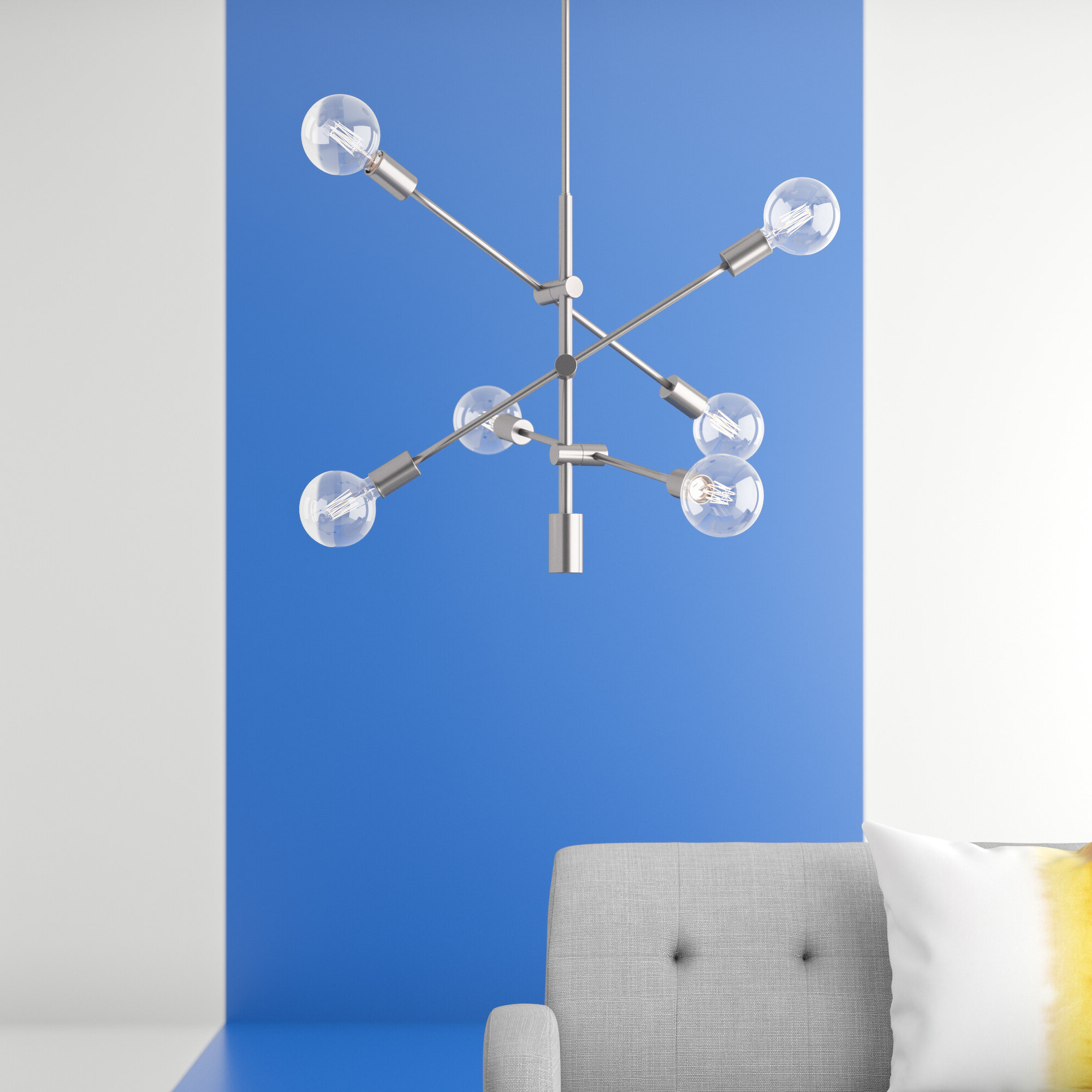 Famous Eladia 6 Light Sputnik Chandeliers Pertaining To Eladia 6 Light Sputnik Chandelier (View 2 of 25)