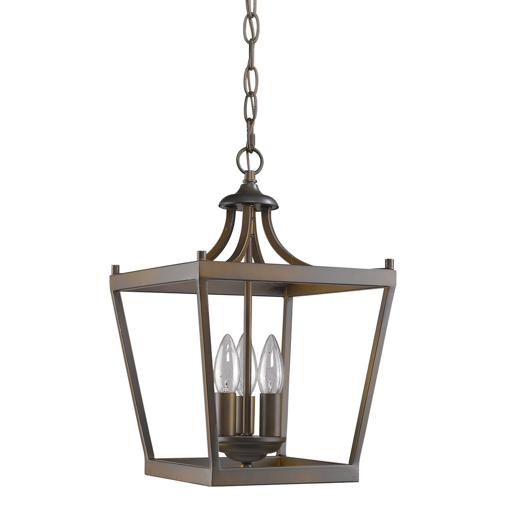Famous Gabriella 3 Light Lantern Chandeliers With Regard To Rancourt 3 Light Lantern Pendant (View 7 of 25)