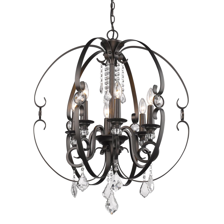 Famous Hardouin 6 Light Globe Chandelier Pertaining To Alden 3 Light Single Globe Pendants (View 25 of 25)