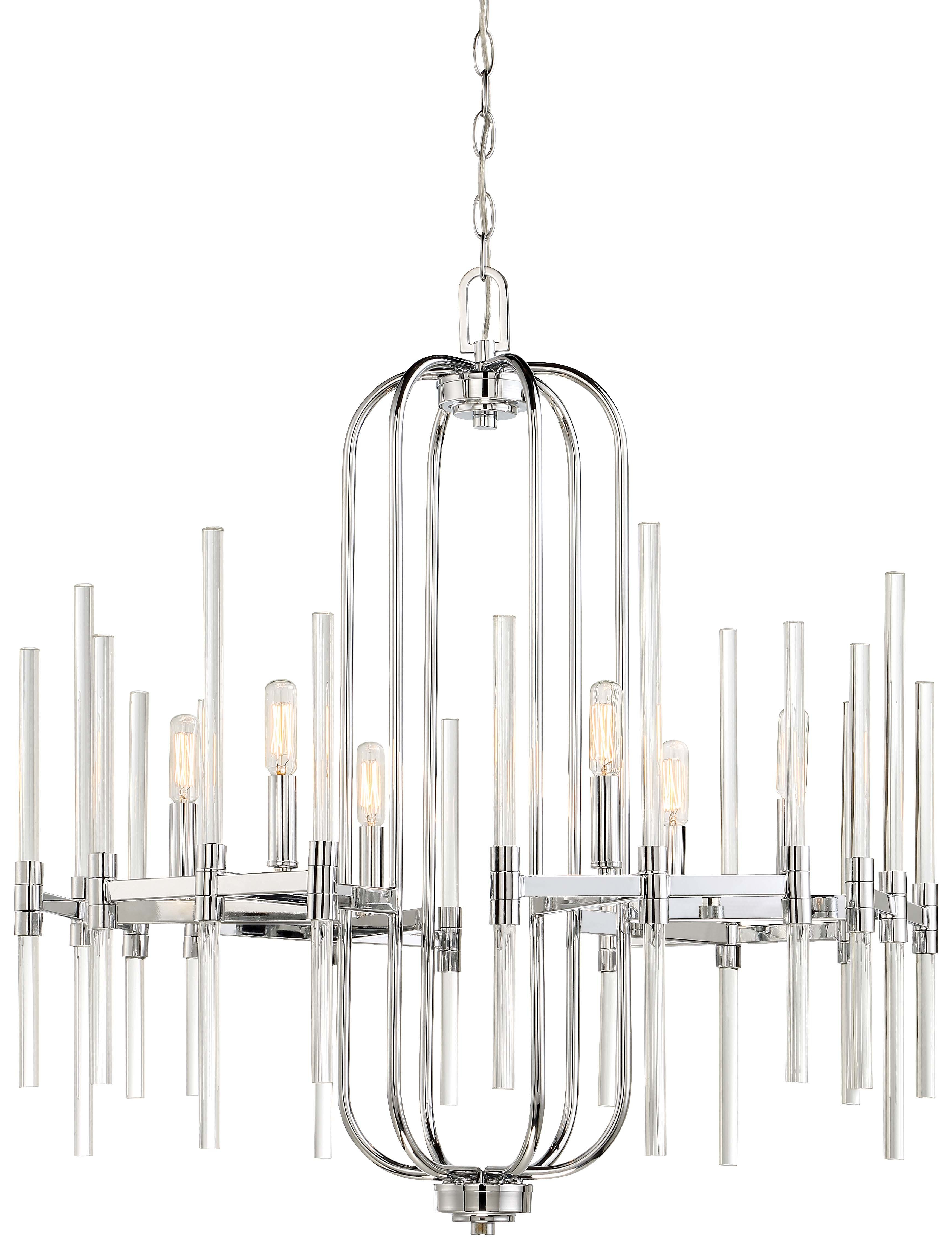 Famous Lynn 6 Light Geometric Chandeliers For Concepcion 6 Light Candle Style Chandelier (View 13 of 25)