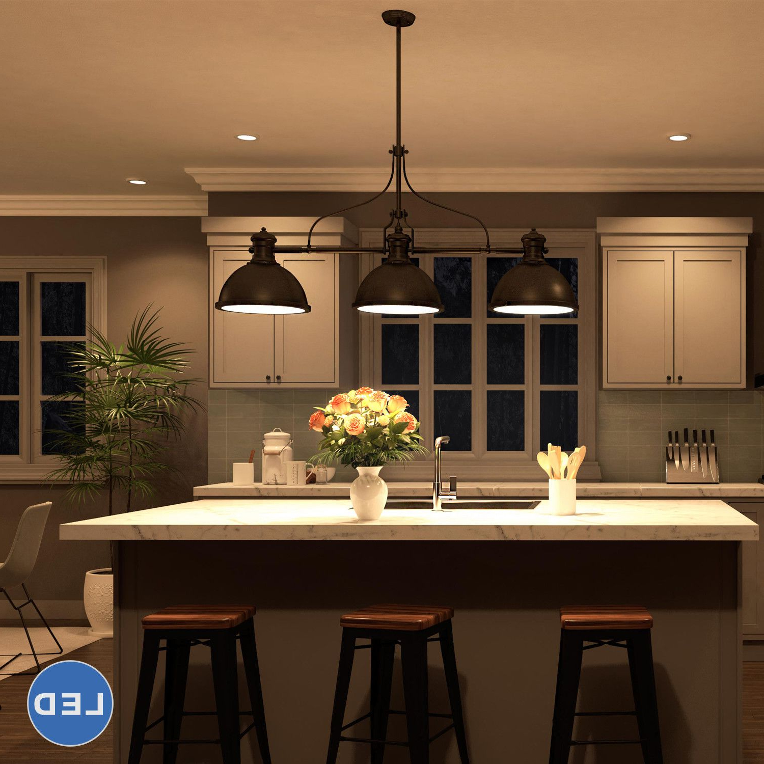 Famous Martinique 3 Light Kitchen Island Dome Pendants Pertaining To Features:  Dorado Collection (View 14 of 25)
