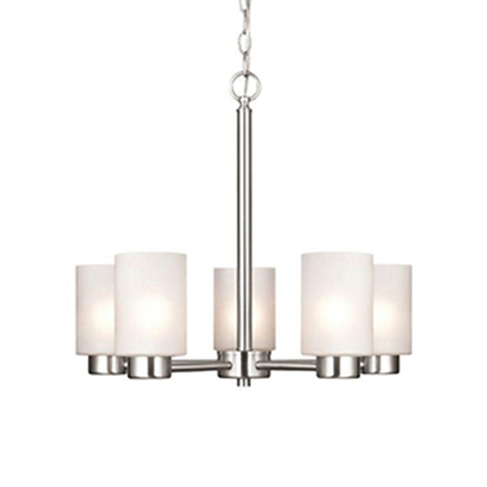 Famous Newent 5 Light Shaded Chandeliers Within Chandeliers – The Home Depot (View 13 of 25)