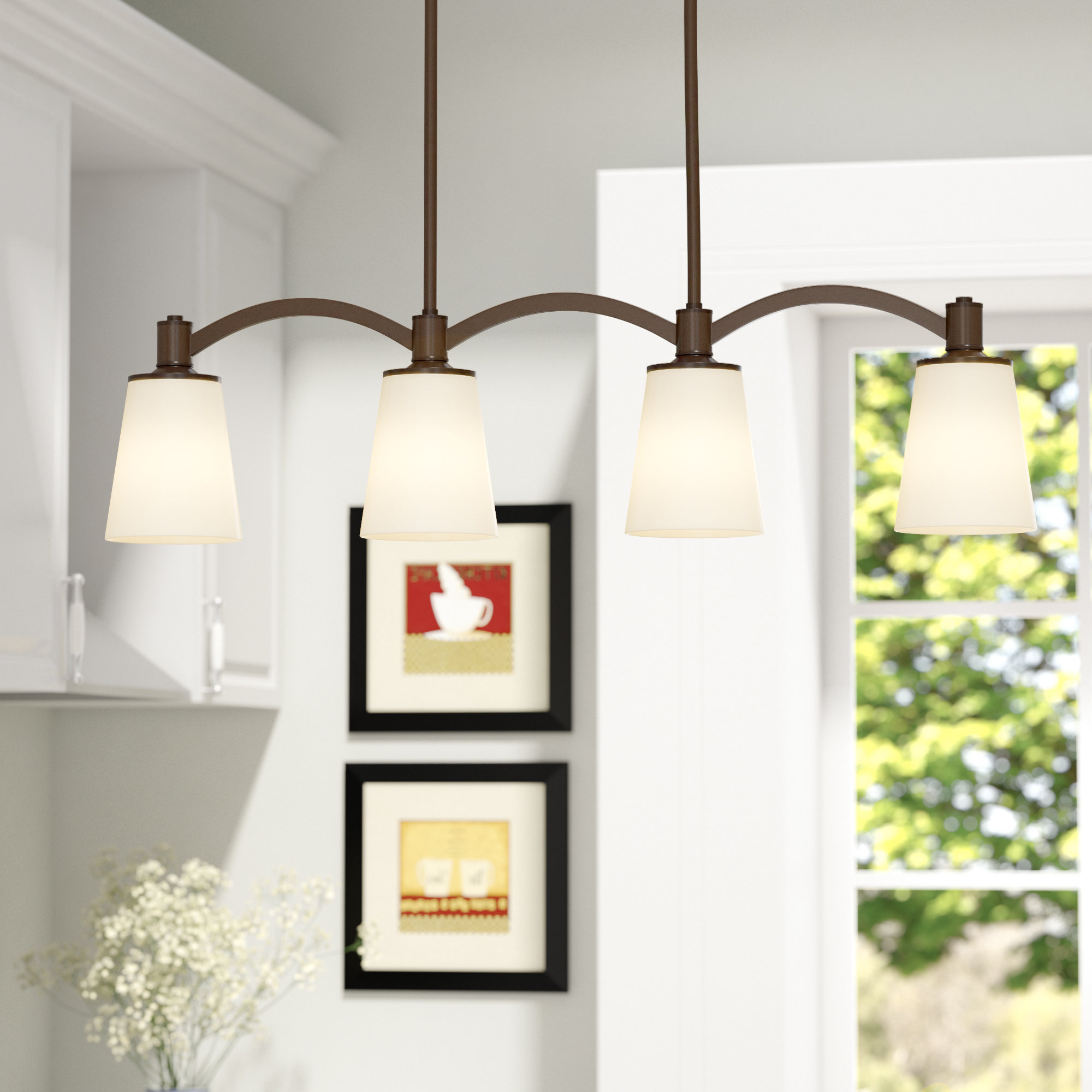 Famous Rockland 4 Light Geometric Pendants For Charlton Home Pendant Lighting You'll Love In  (View 9 of 25)