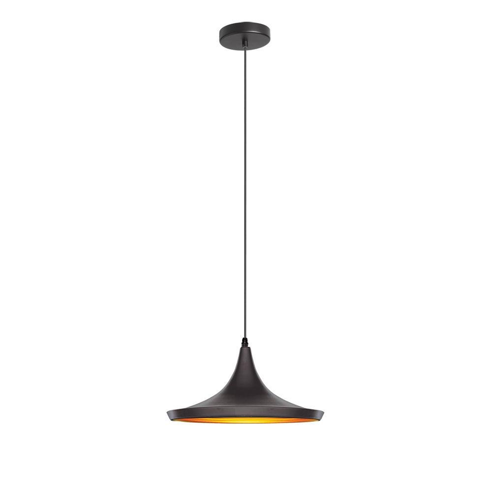Famous Ryker 1 Light Single Dome Pendants Throughout Filament Design 1 Light Matte Black Pendant (View 14 of 25)