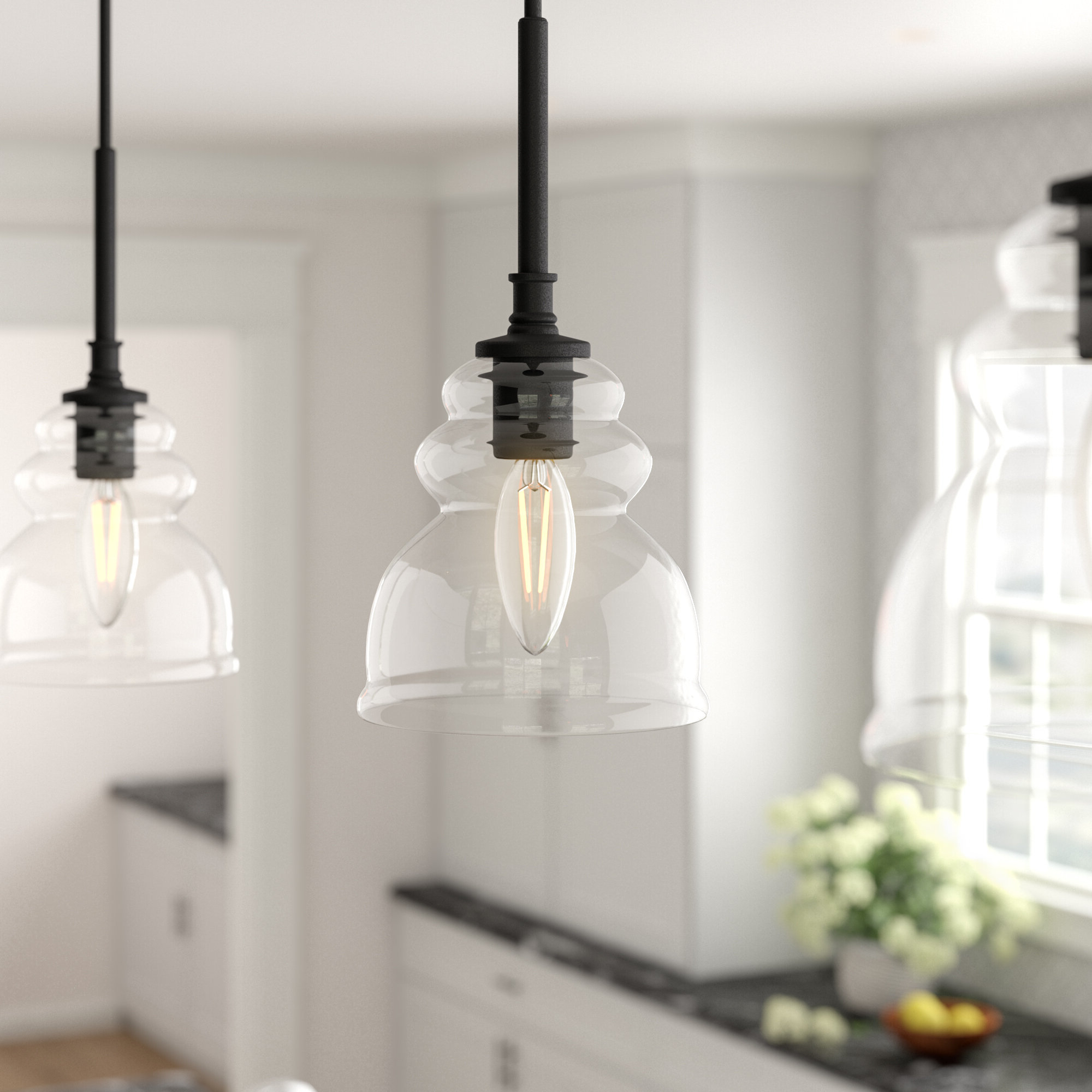 Famous Sargent 1 Light Single Bell Pendants In Arla 1 Light Single Bell Pendant (View 3 of 25)