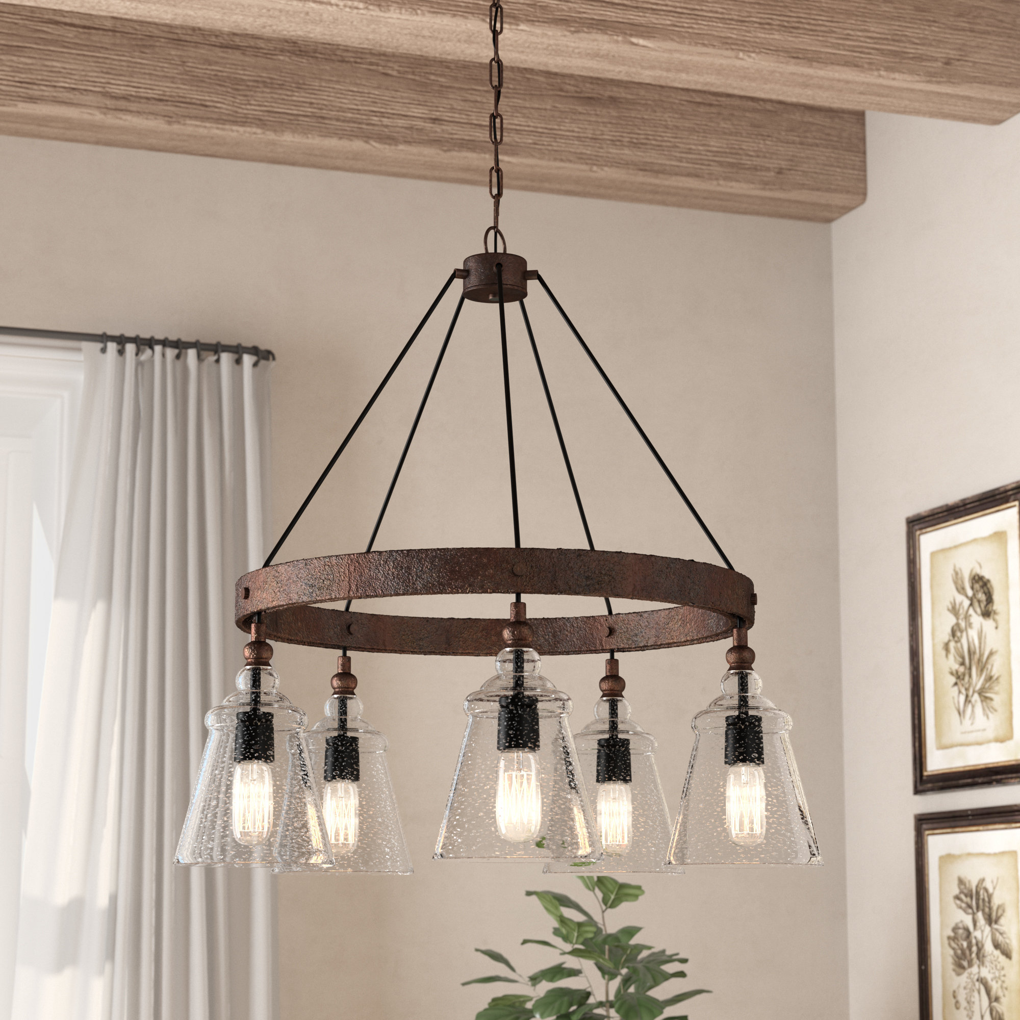 Famous Shayla 12 Light Wagon Wheel Chandeliers With Expert Wagon Wheel Chandelier Antique Shades Of Light (View 19 of 25)