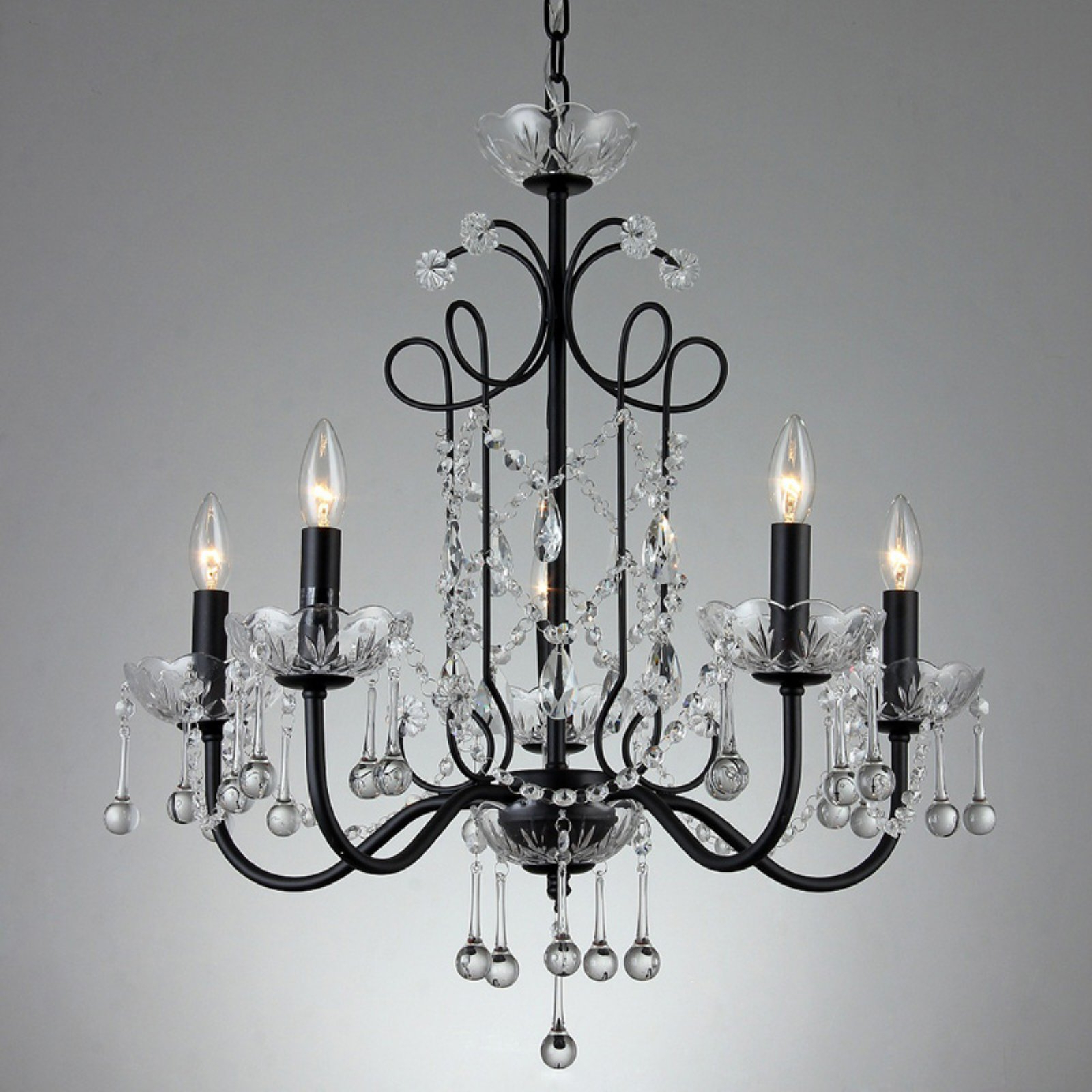 Famous Shaylee 5 Light Candle Style Chandeliers With Regard To Warehouse Of Tiffany Donna Su7201 5 Chandelier (View 3 of 25)