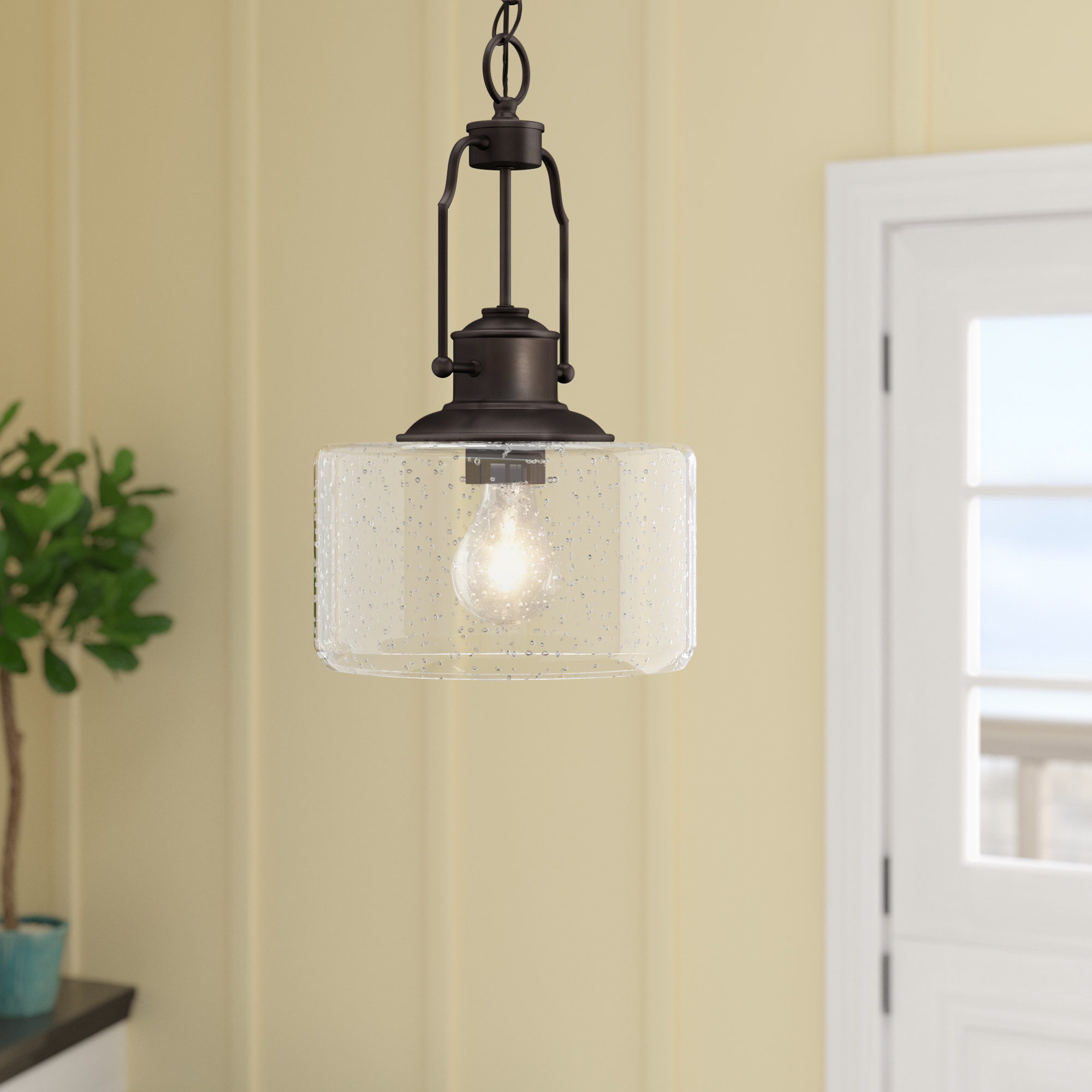 Famous Terry 1 Light Single Bell Pendants Pertaining To 1 Light Drum Pendant (View 7 of 25)