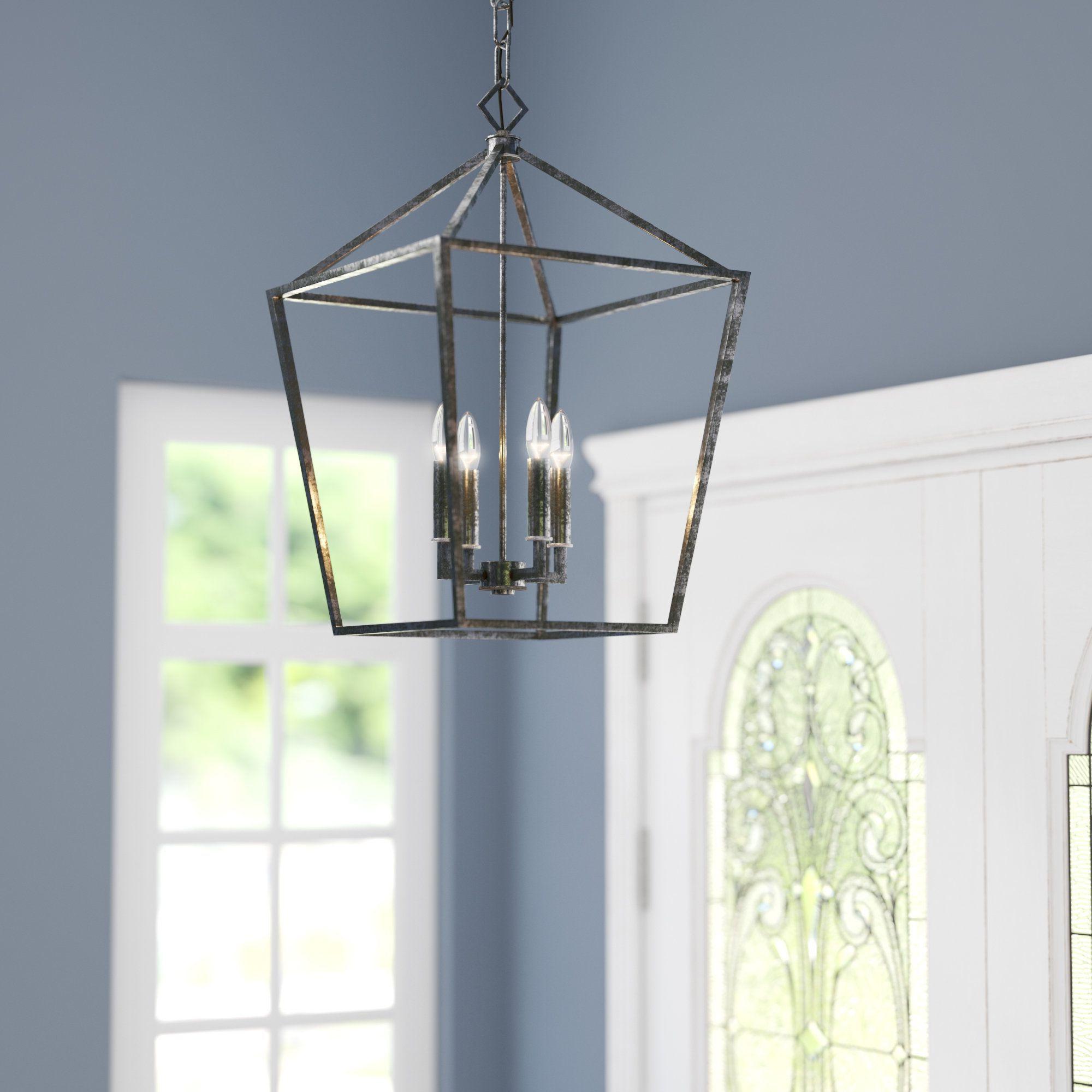 Famous Varnum 4 Light Lantern Pendants Within Varnum 4 Light Foyer Pendant (View 4 of 25)