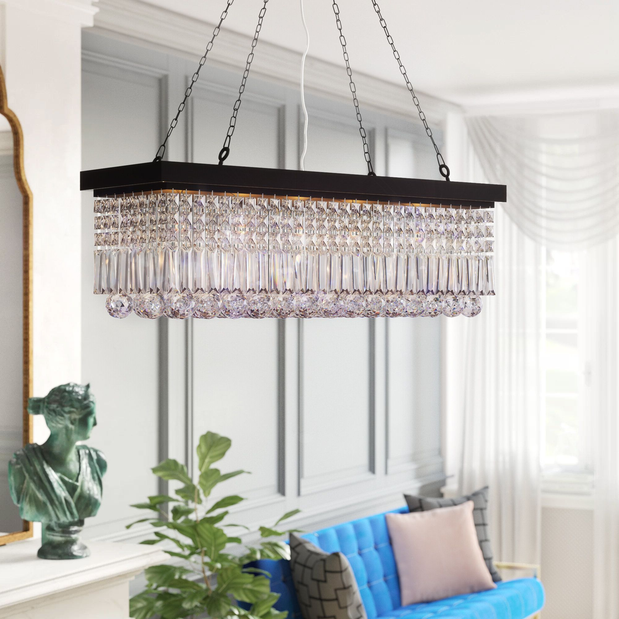 Famous Verdell 5 Light Crystal Chandeliers With Regard To House Of Hampton Ramsgate 5 Light Crystal Chandelier In  (View 10 of 25)