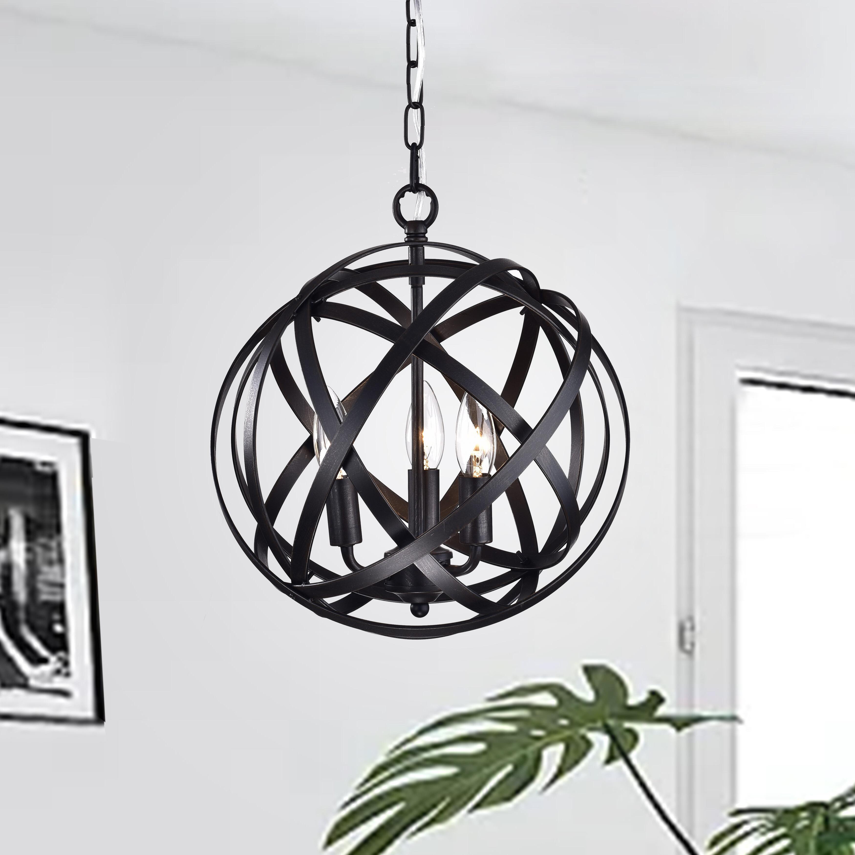 Famous Verlene Foyer 5 Light Globe Chandeliers In Nilsa 3 Light Globe Chandelier & Reviews (View 19 of 25)