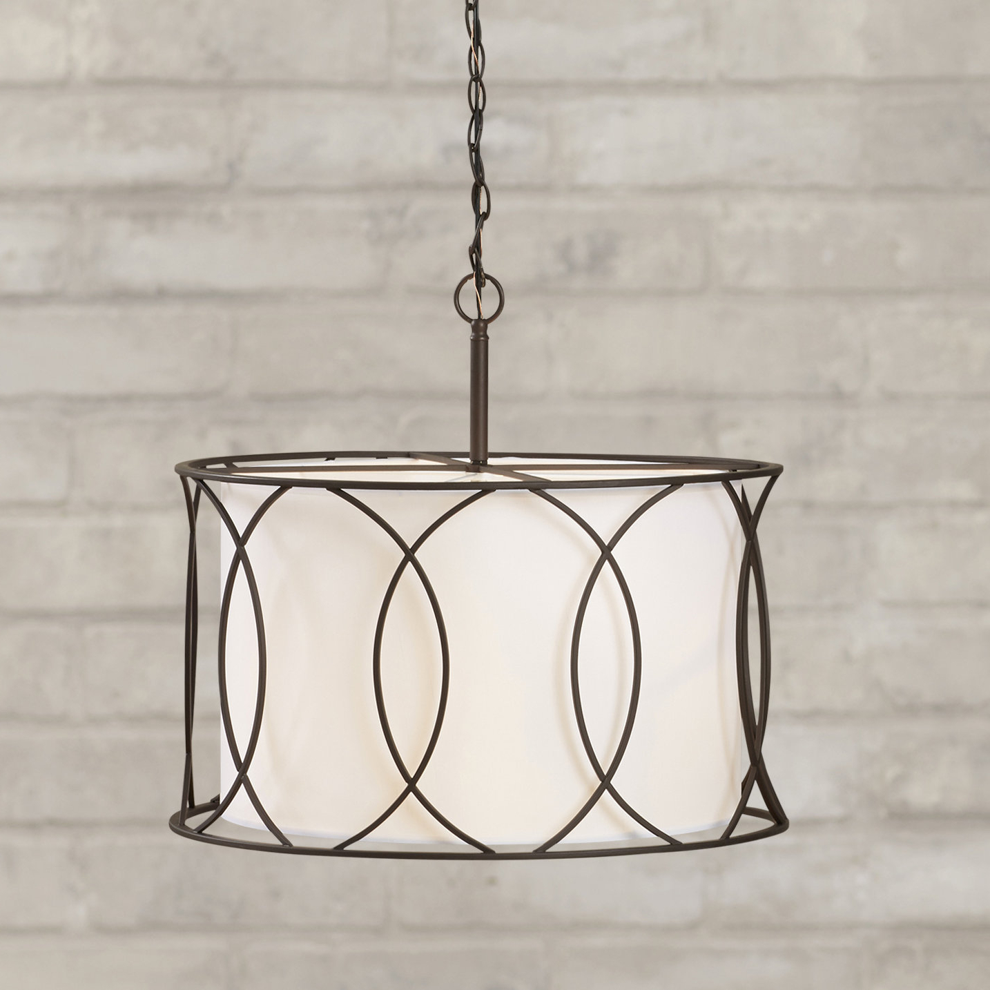 Farmhouse & Rustic Drum Chandeliers (View 15 of 25)