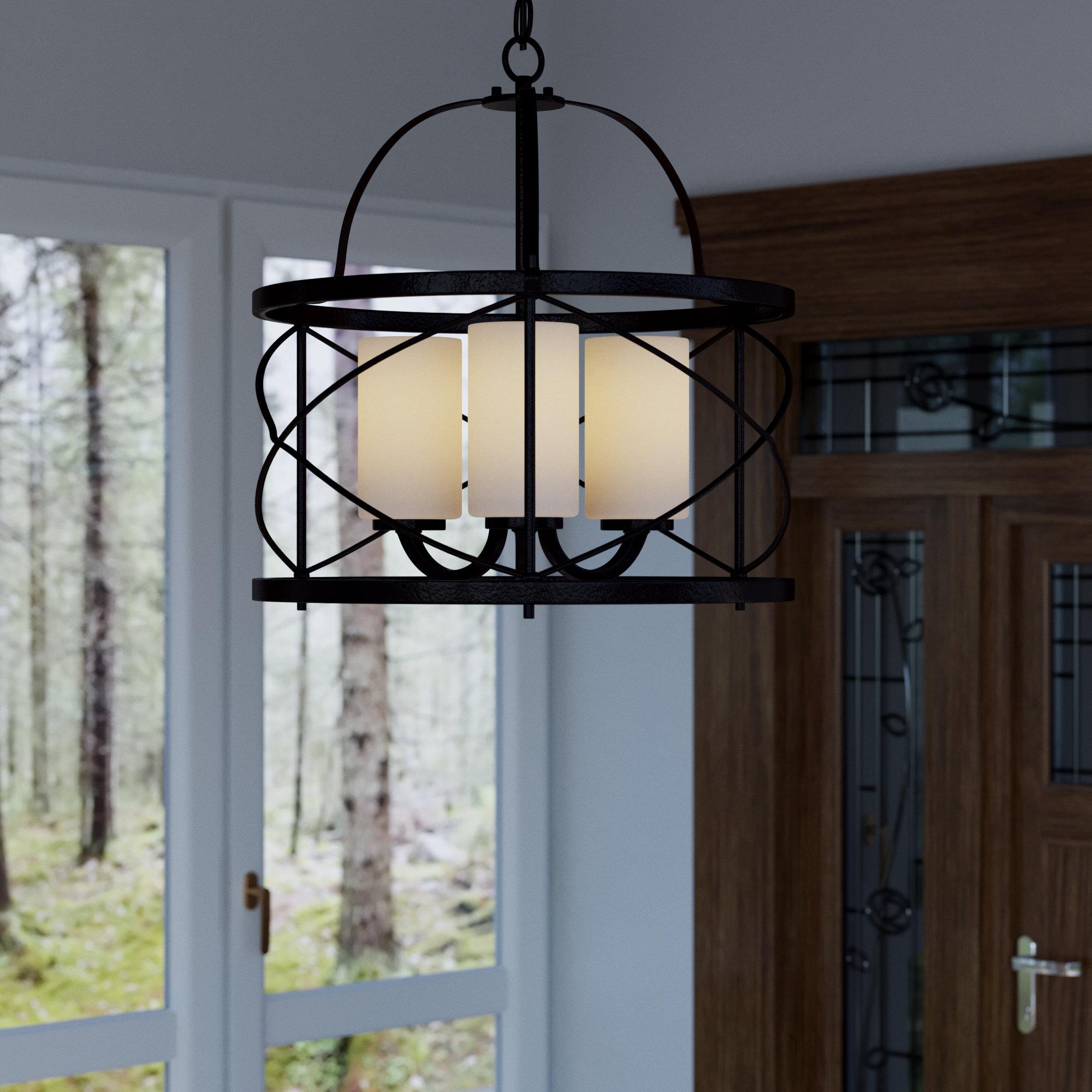 Farrier 3 Light Lantern Drum Pendants Intended For Favorite Farrier 3 Light Lantern Pendant (View 4 of 25)