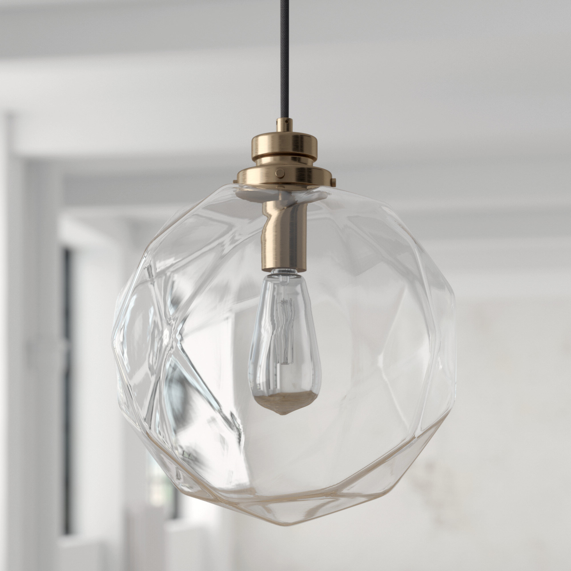 Fashionable 1 Light Geometric Globe Pendant For Roslindale 1 Light Single Bell Pendants (View 20 of 25)