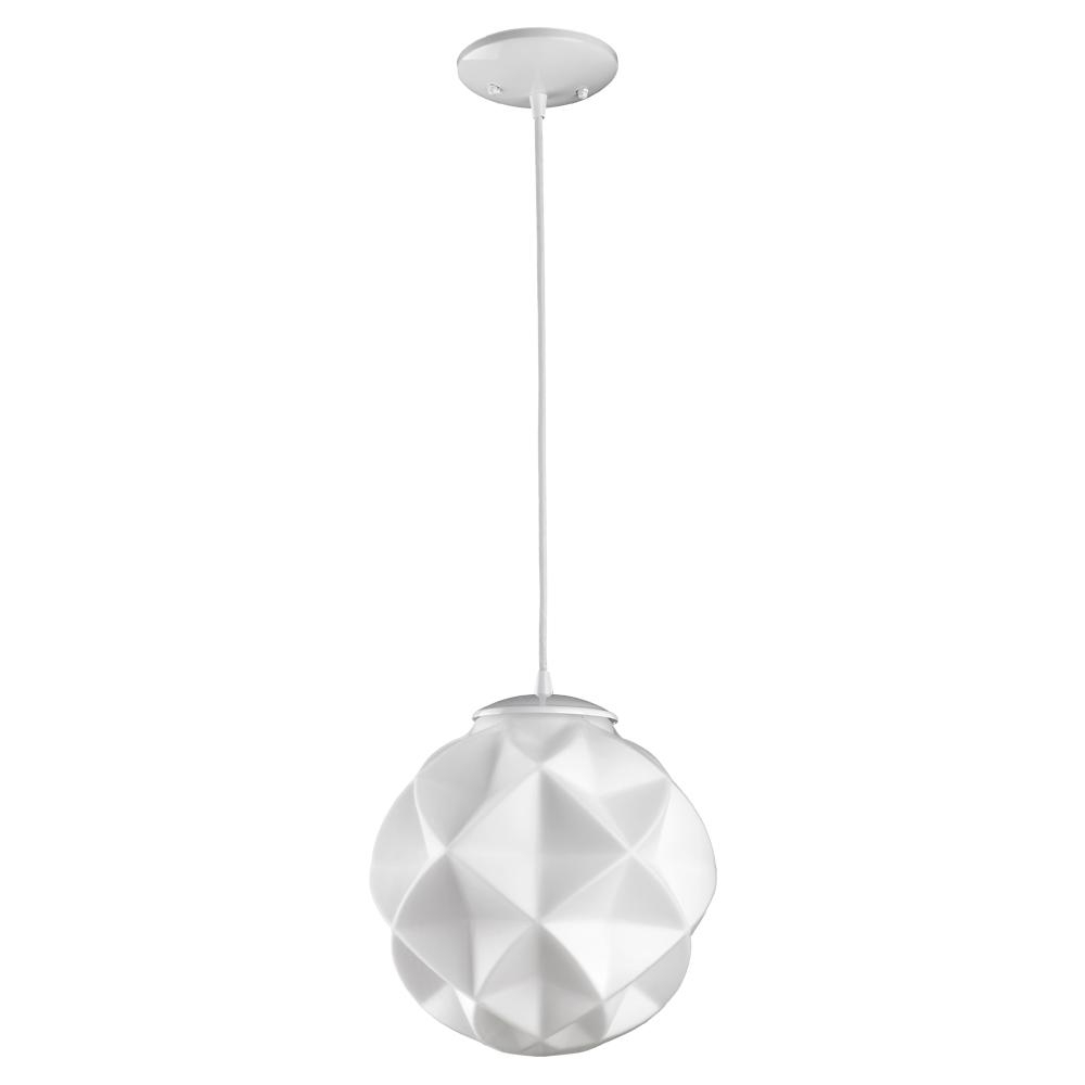 Fashionable 1 Light Geometric Globe Pendants Intended For Acclaim Lighting Nova 1 Light White Mini Pendant With Geometric Globe Shade (View 14 of 25)