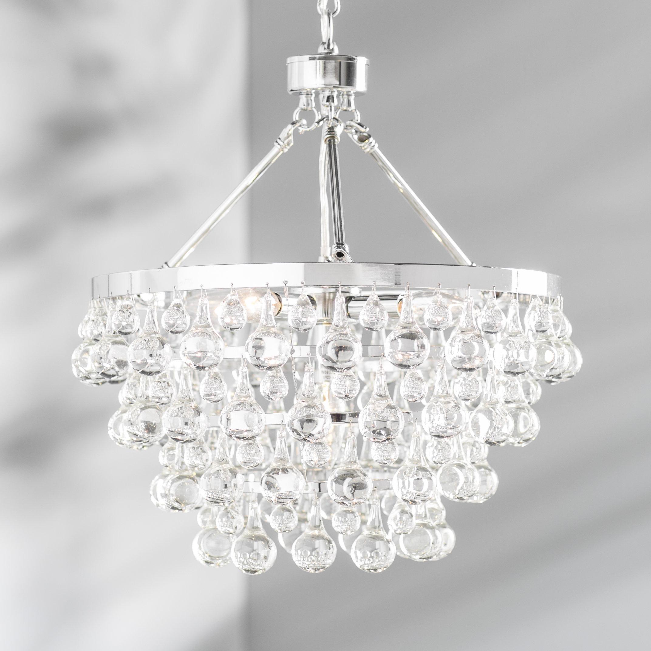 Fashionable Ahern 5 Light Crystal Chandelier Throughout Clea 3 Light Crystal Chandeliers (View 8 of 25)