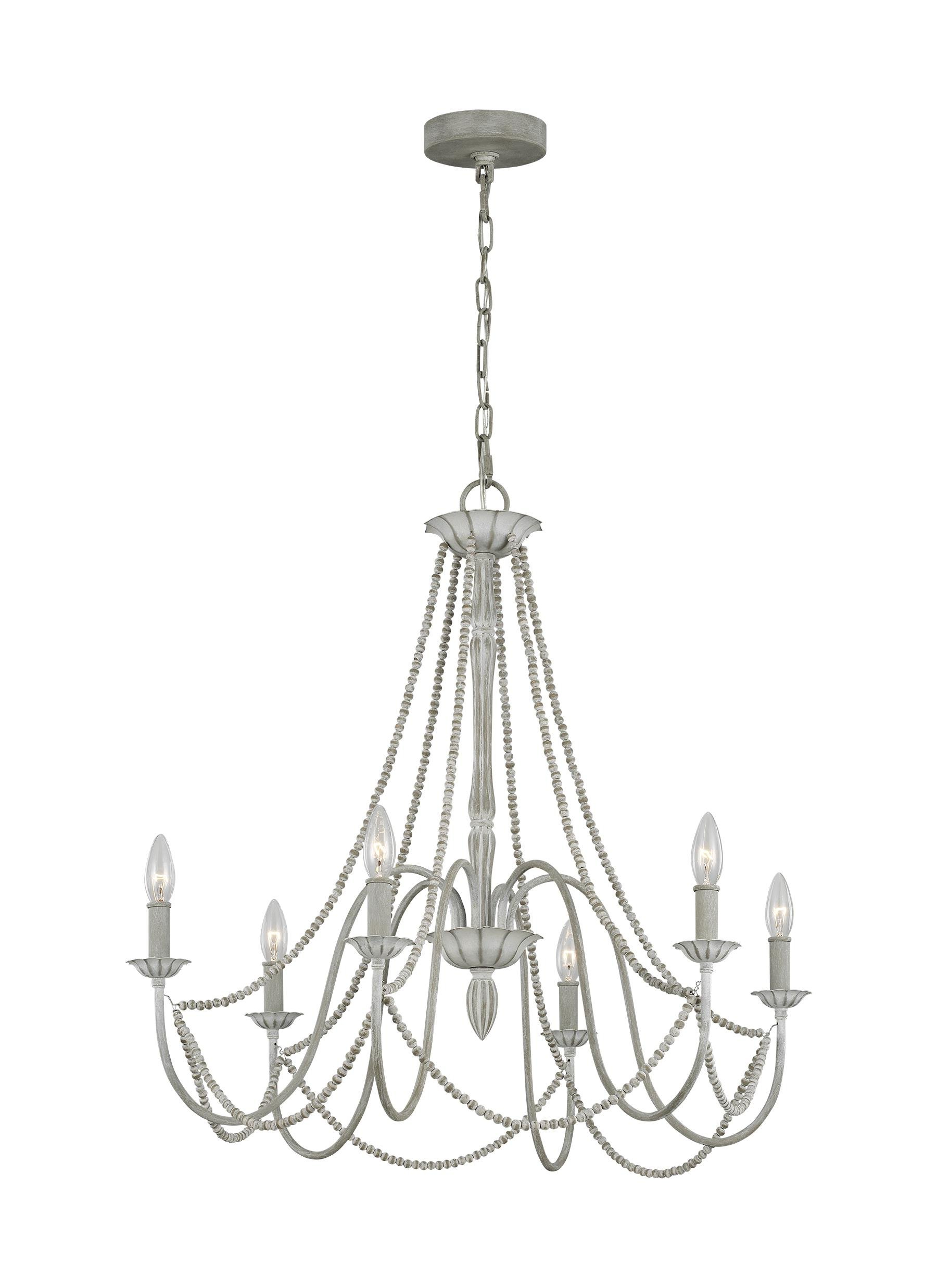 Fashionable Caufield 6 Light Candle Style Chandelier Regarding Diaz 6 Light Candle Style Chandeliers (View 14 of 25)