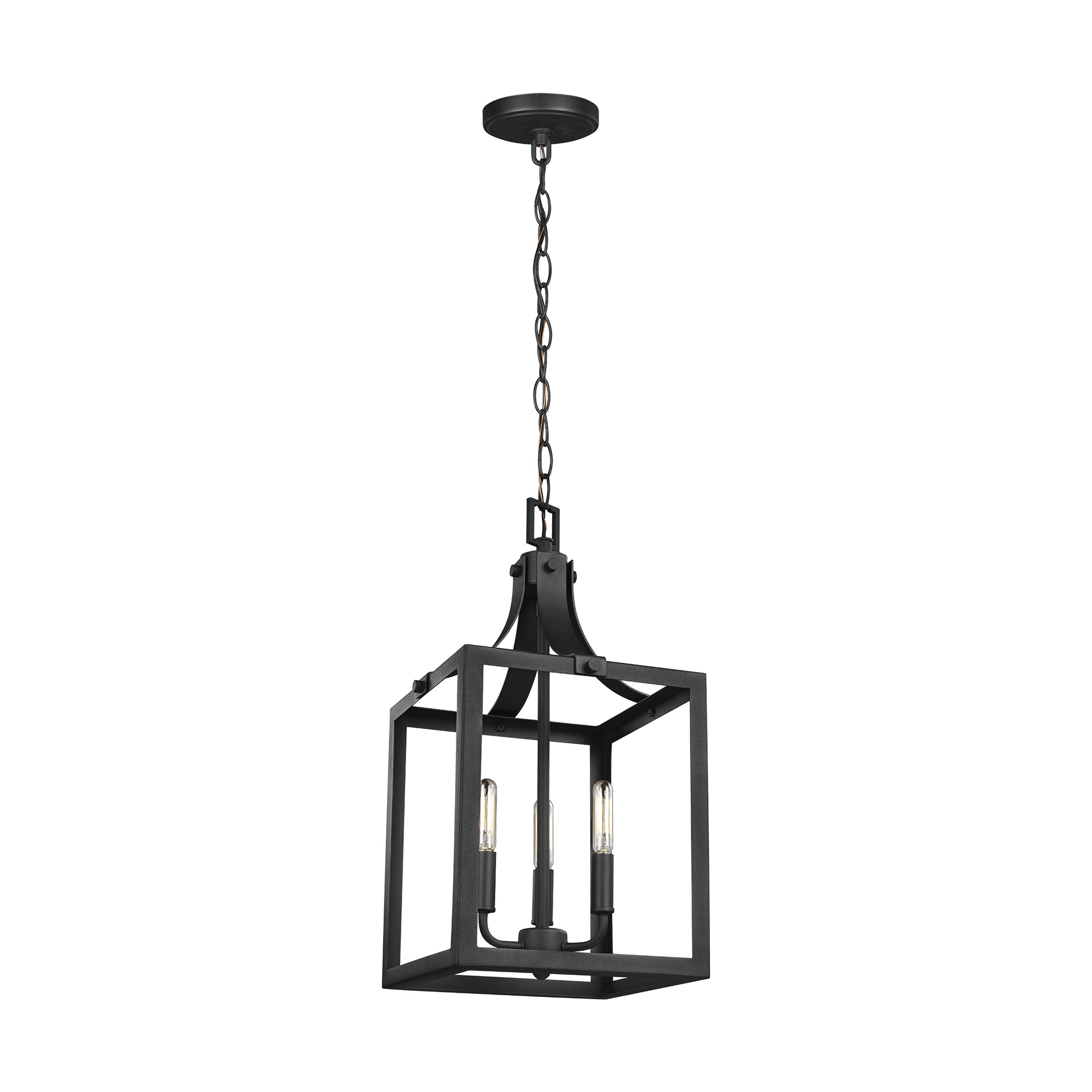 Fashionable Chauvin 3 Light Lantern Geometric Pendants Regarding Gracie Oaks Sherri Ann 3 Light Lantern Square / Rectangle Pendant (View 10 of 25)