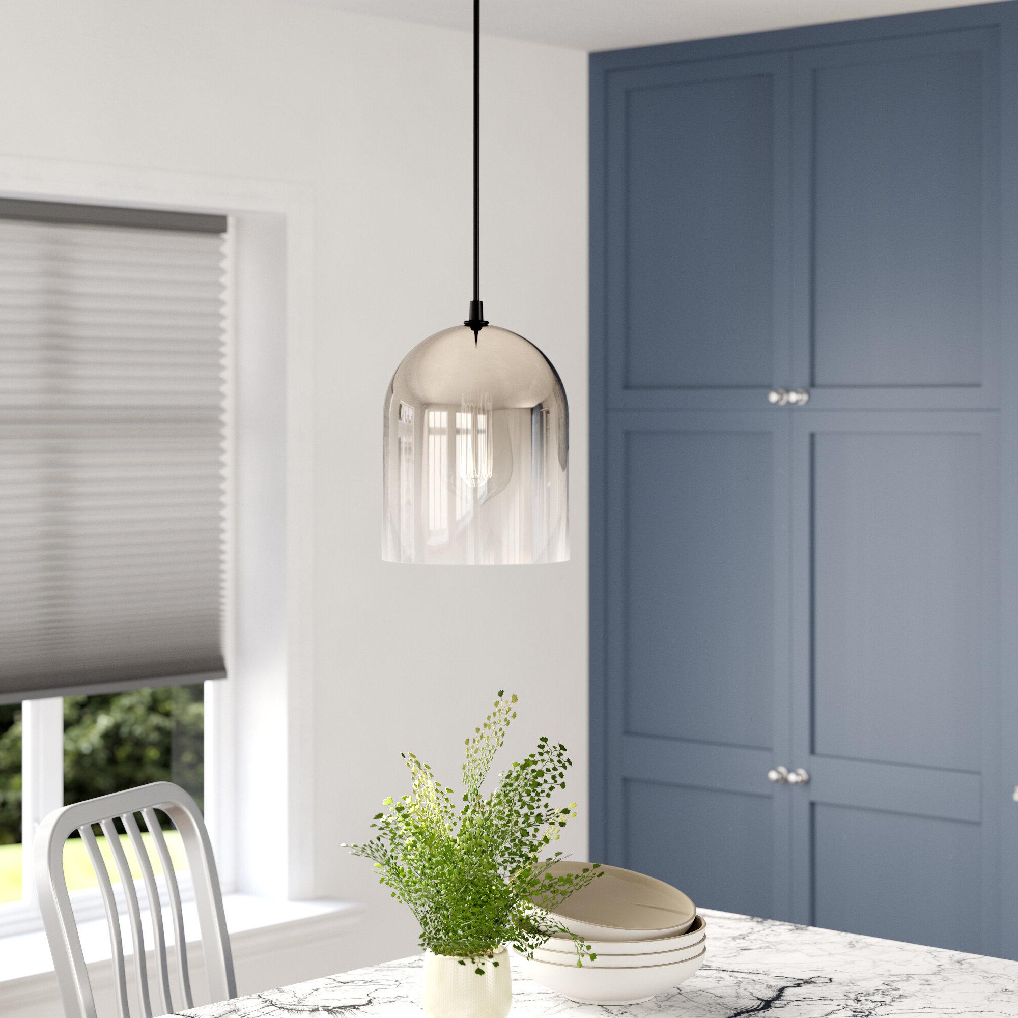 Fashionable Giacinta 1 Light Single Bell Pendants For Ebern Designs Mccue 1 Light Single Bell Pendant & Reviews (View 6 of 25)