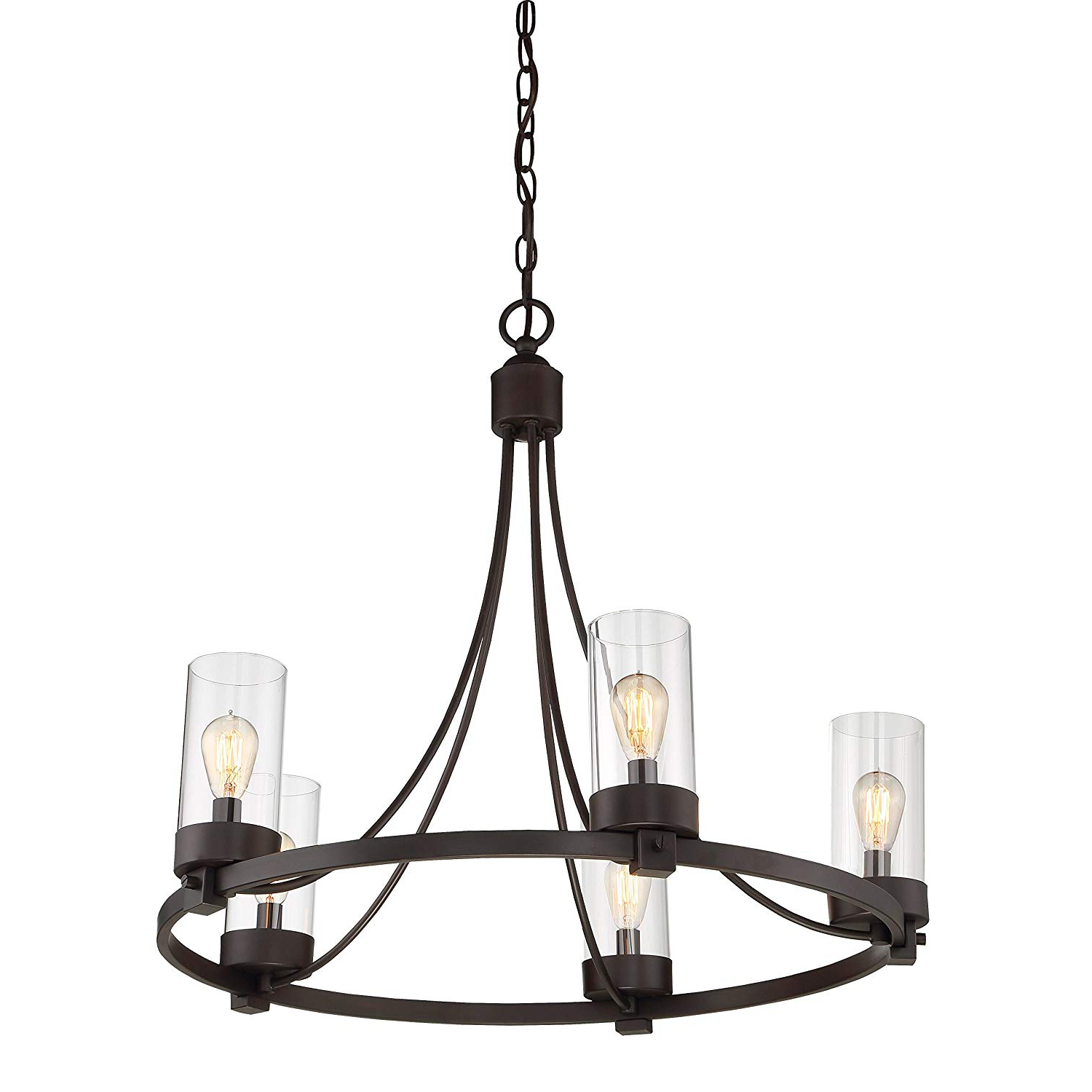 Fashionable Giverny 9 Light Candle Style Chandeliers For Agave Oil Rubbed Bronze 5 Light Candle Style Chandelier (View 24 of 25)