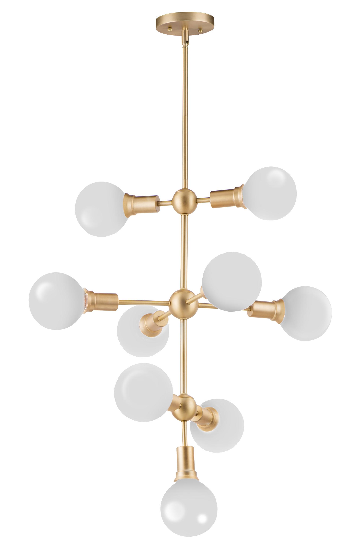 Fashionable Godbey 9 Light Sputnik Chandelier Intended For Asher 12 Light Sputnik Chandeliers (View 18 of 25)