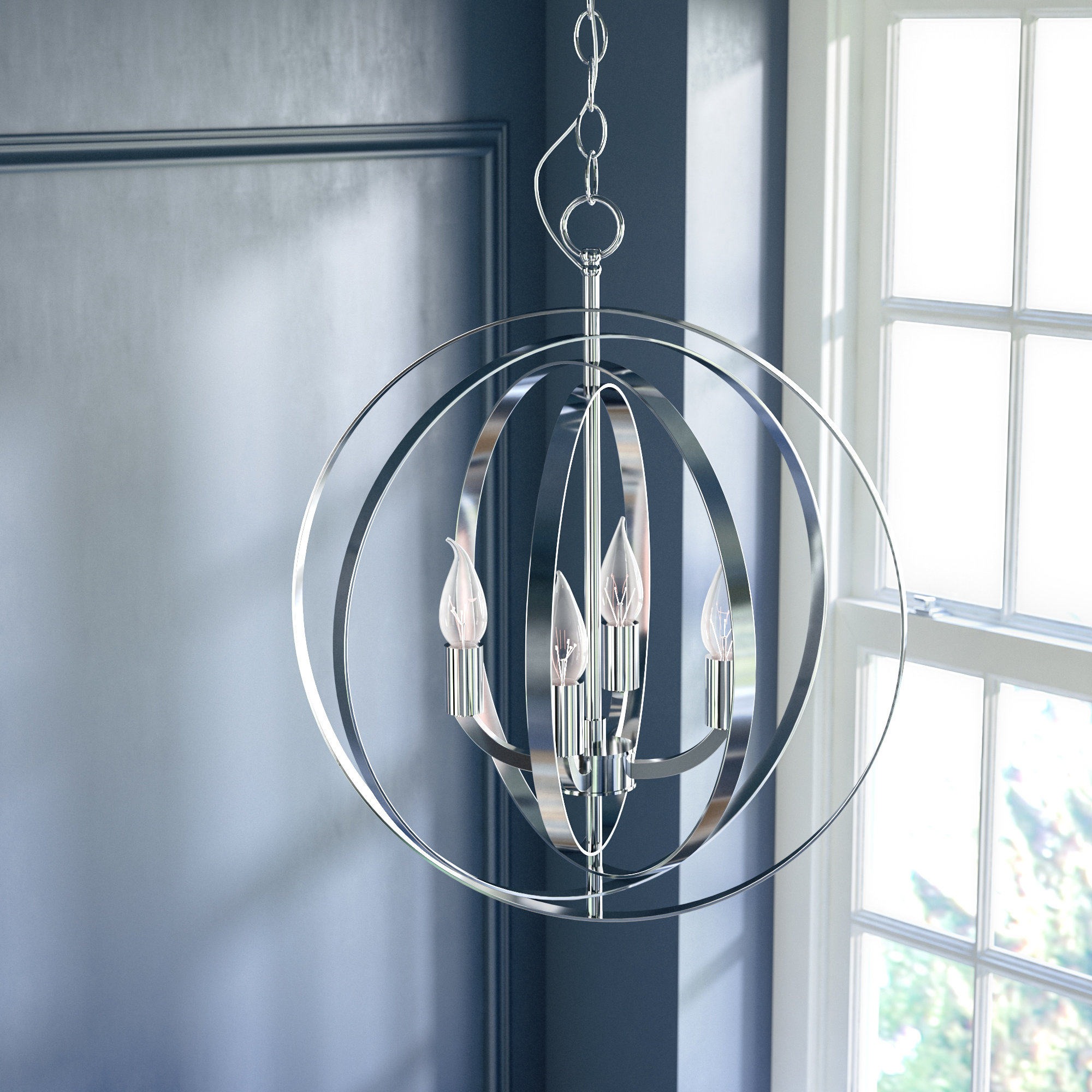Featured Photo of Hendry 4 Light Globe Chandeliers