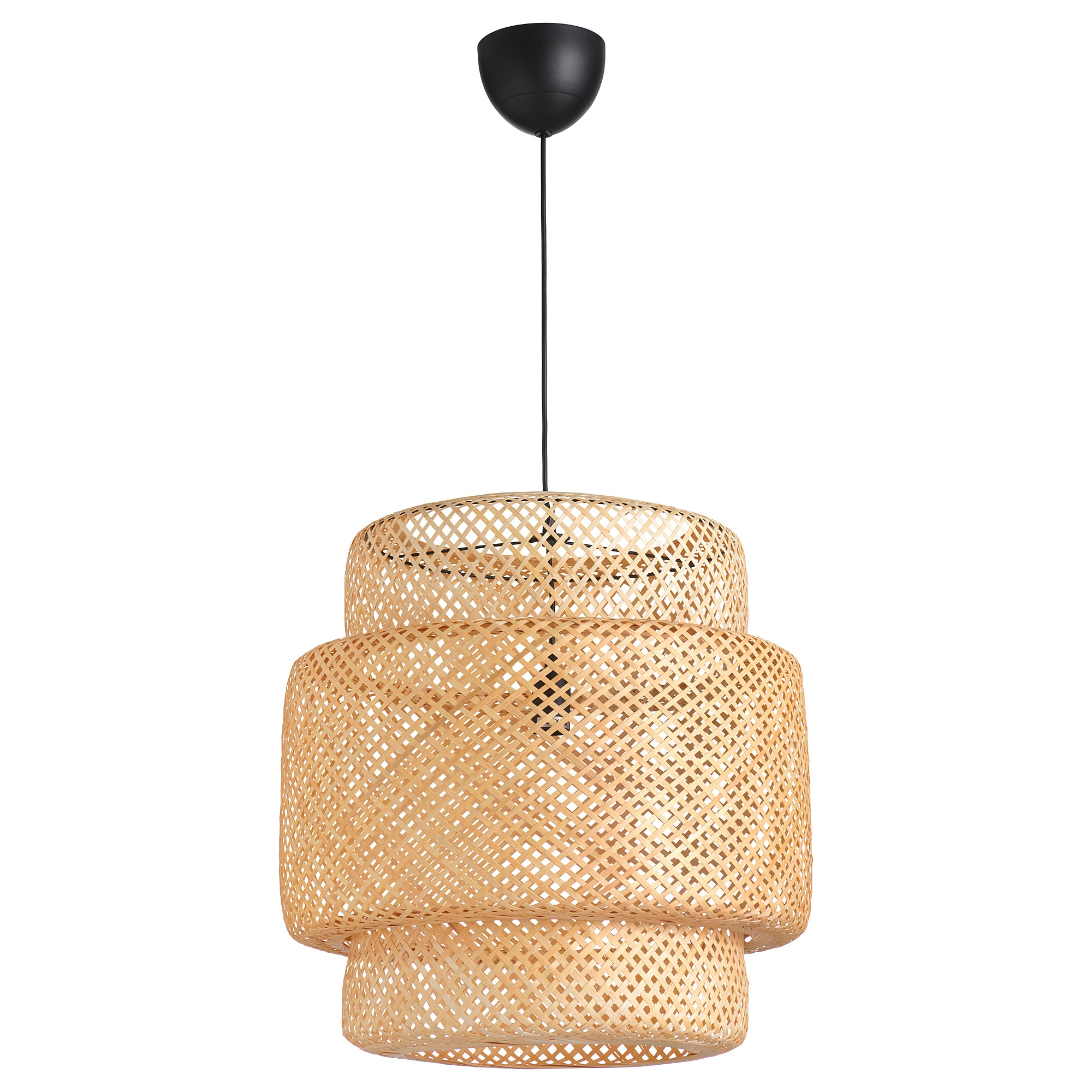 Fashionable Houon 1 Light Cone Bell Pendants Within Pendant Lamp Sinnerlig Bamboo (View 15 of 25)