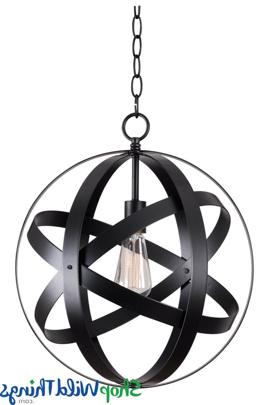 Fashionable Irwin 1 Light Single Globe Pendants Pertaining To Kenroy Home Global Light Pendant In  (View 7 of 25)