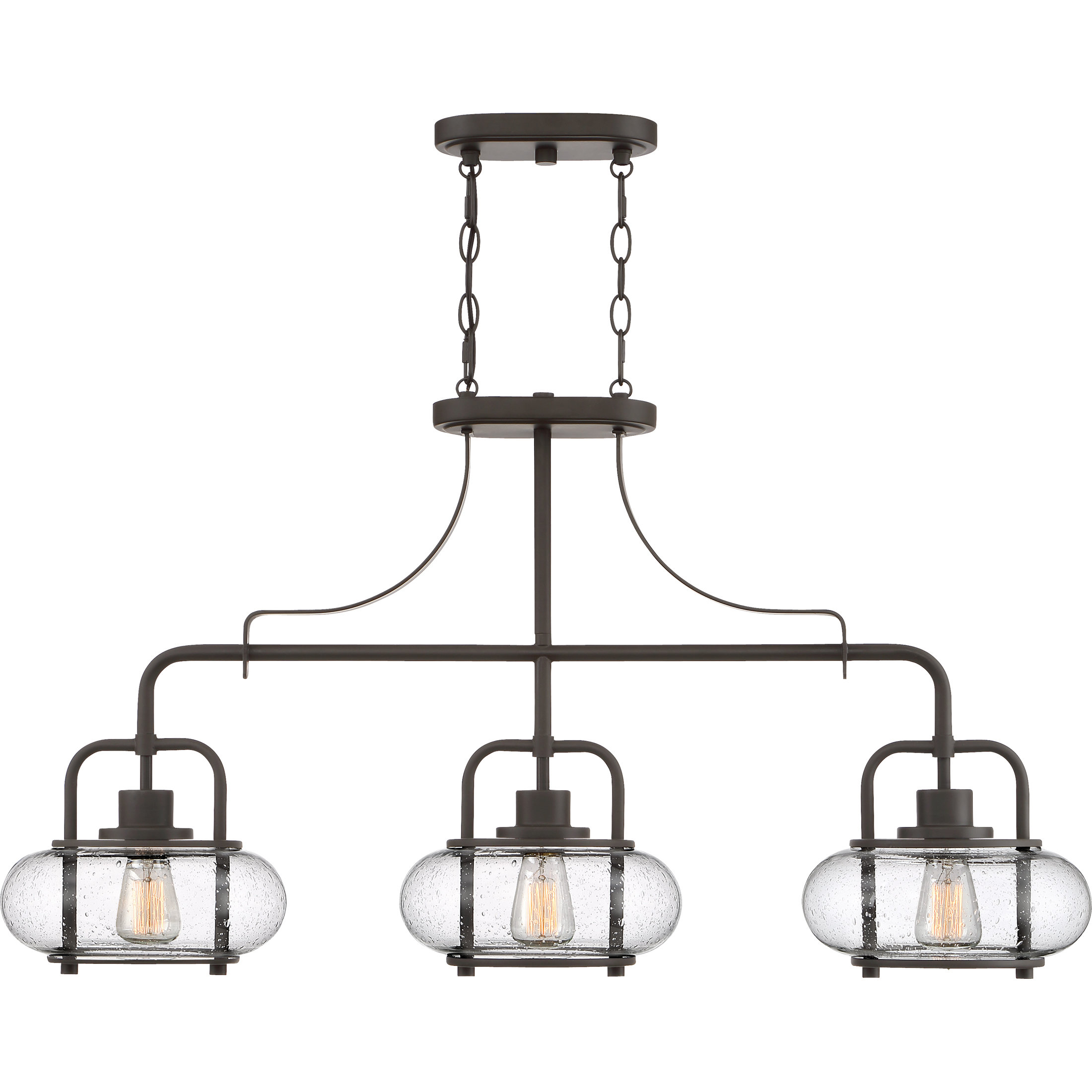 Fashionable Martinique 3 Light Kitchen Island Dome Pendants With Regard To Braxton 3 Light Kitchen Island Linear Pendant (View 8 of 25)