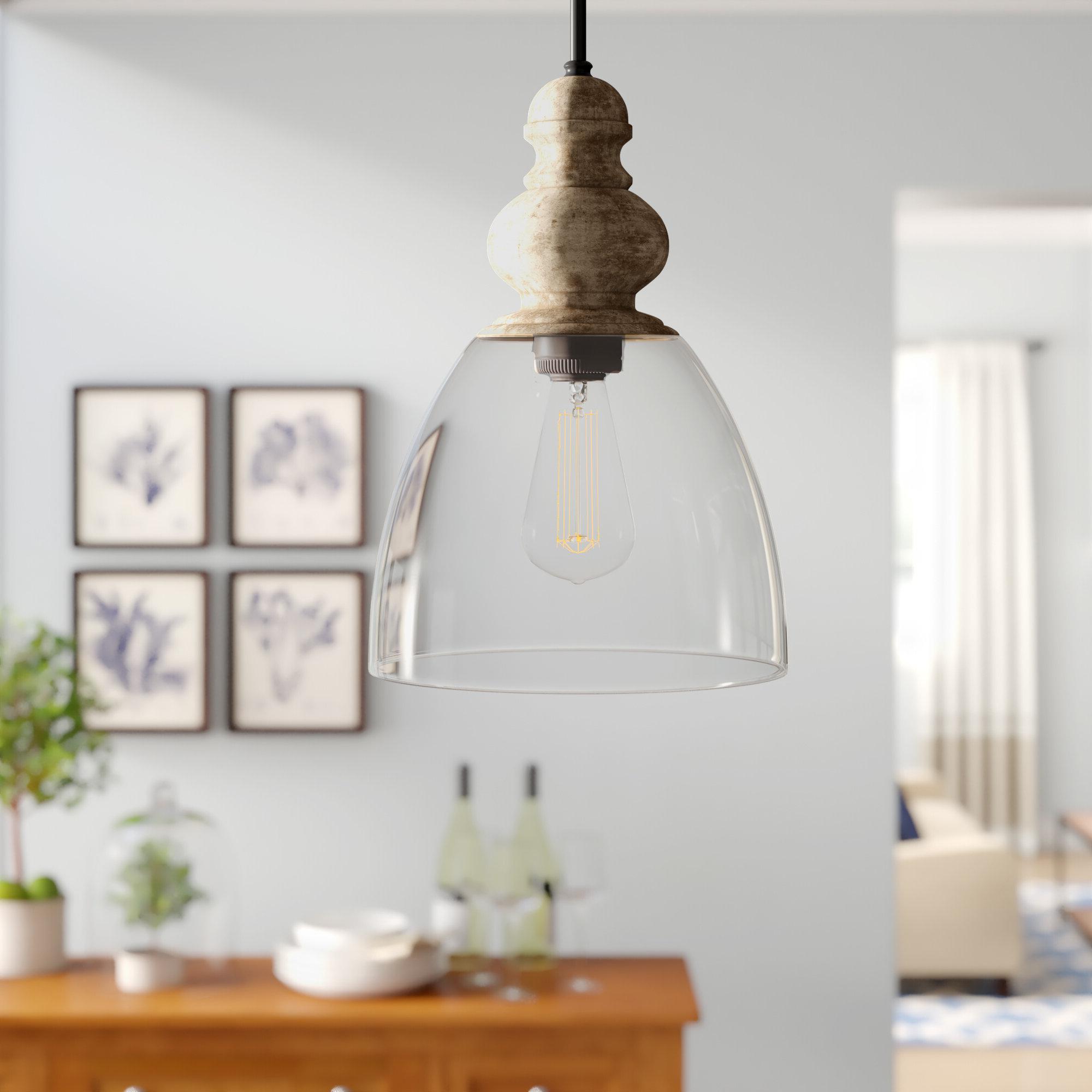 Fashionable Monadnock 1 Light Single Dome Pendants Pertaining To Farmhouse & Rustic Black Pendants (View 8 of 25)