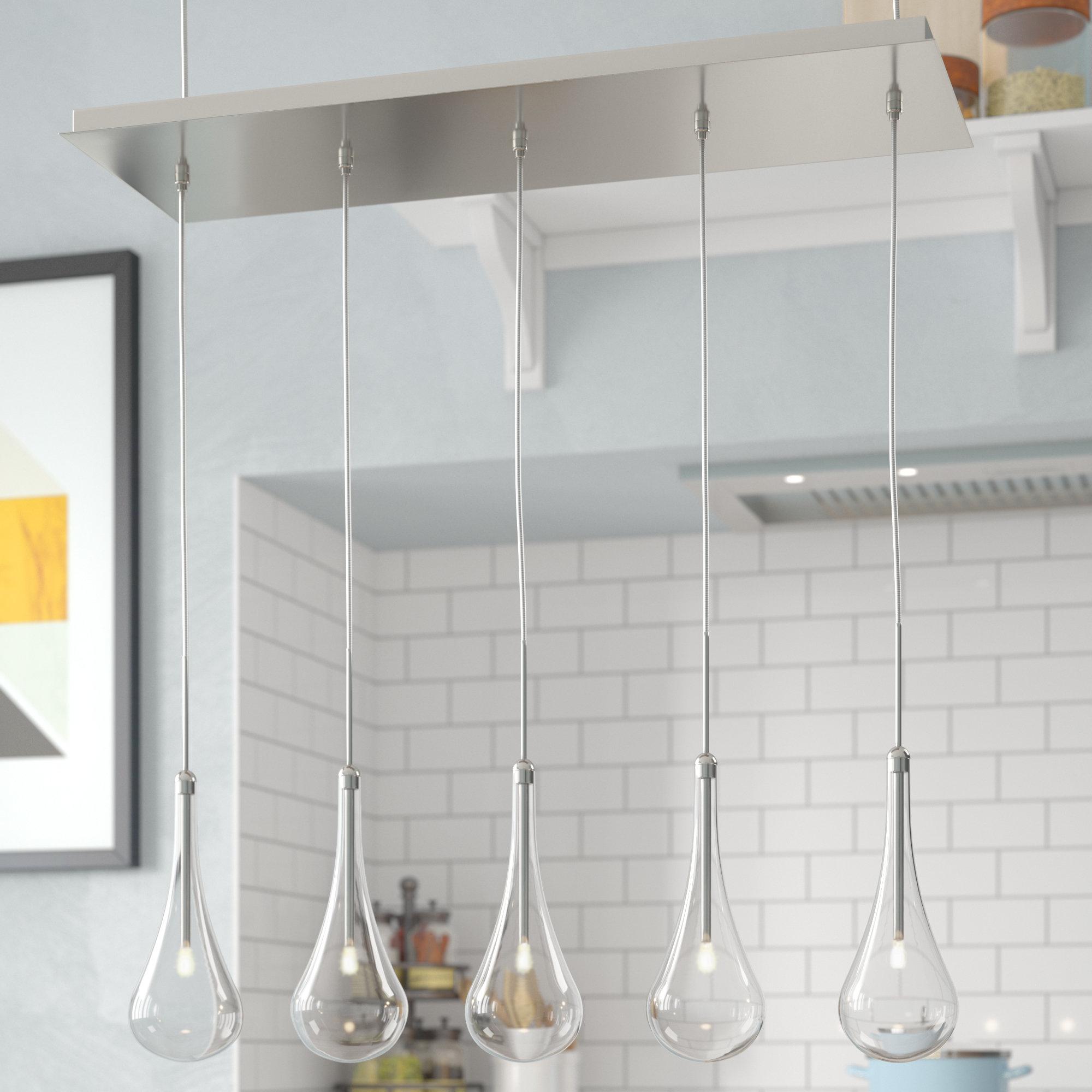 Featured Photo of Neal 5 Light Kitchen Island Teardrop Pendants