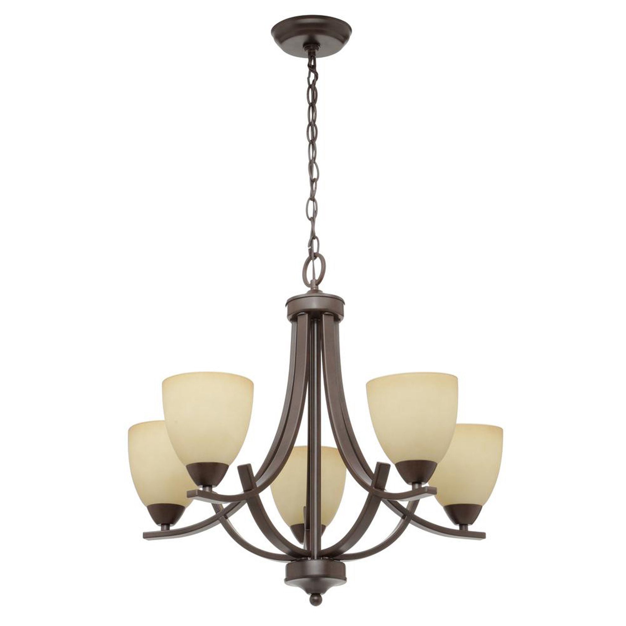 Fashionable Newent 5 Light Shaded Chandeliers Inside Crofoot 5 Light Shaded Chandelier (View 7 of 25)