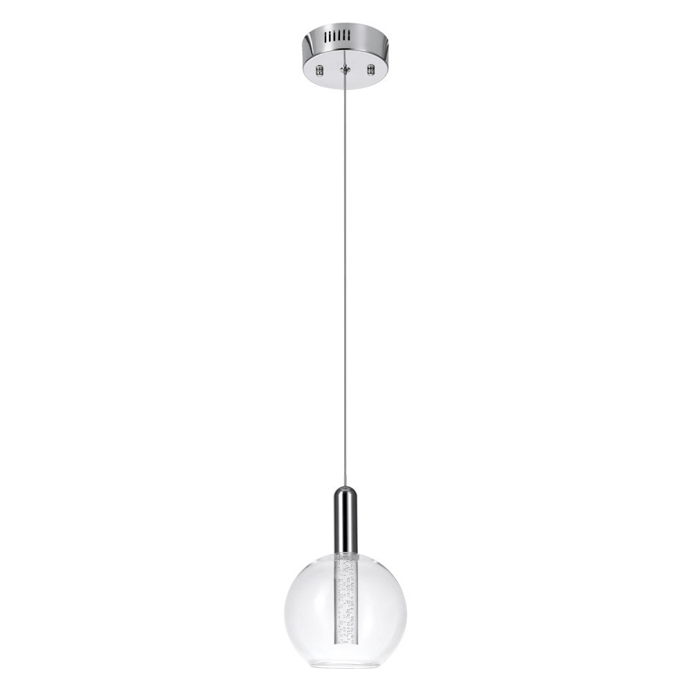 Fashionable Oldbury 1 Light Single Cylinder Pendants Throughout Sipos 1 Light Led Single Globe Pendant (View 6 of 25)