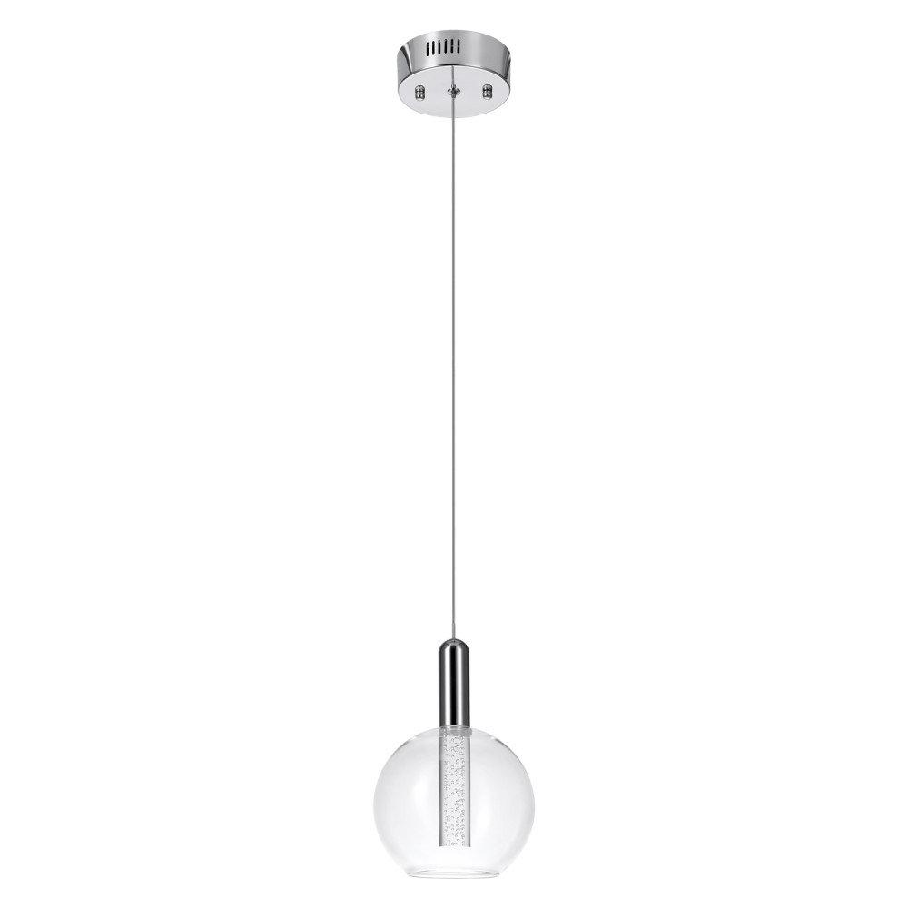 Fashionable Oldbury 1 Light Single Cylinder Pendants Throughout Sipos 1 Light Led Single Globe Pendant (View 14 of 25)