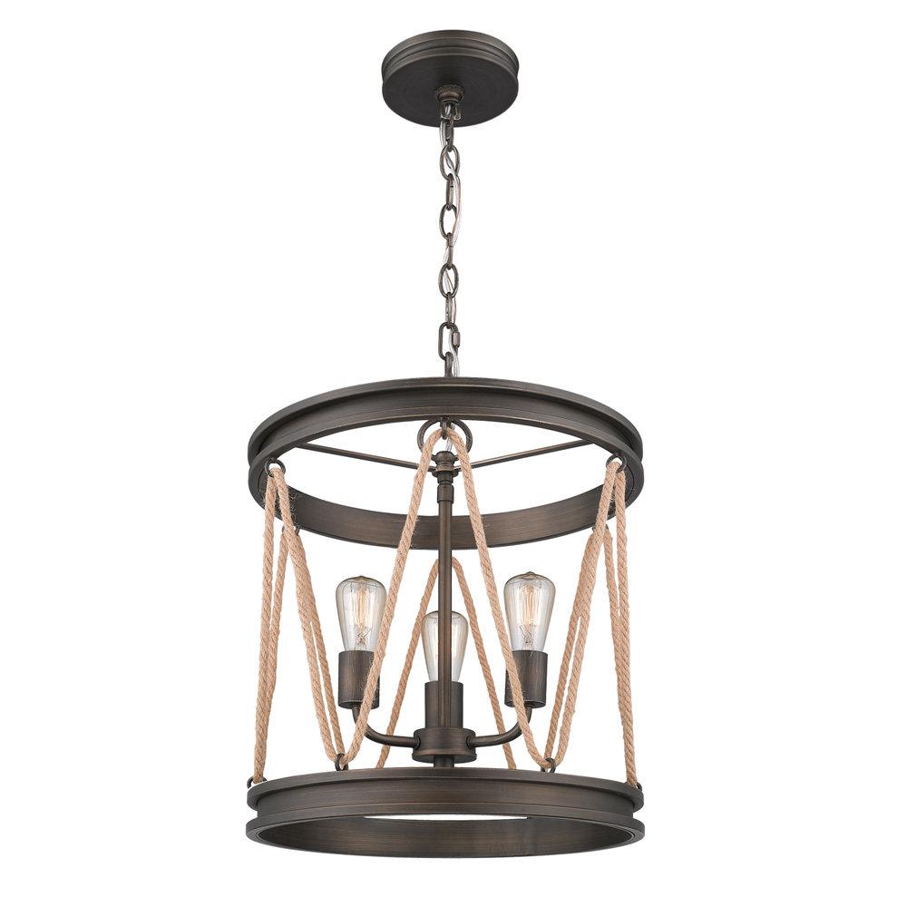 Fashionable Tessie 3 Light Lantern Cylinder Pendants Regarding Longfellow 3 Light Cylinder Pendant (View 14 of 25)