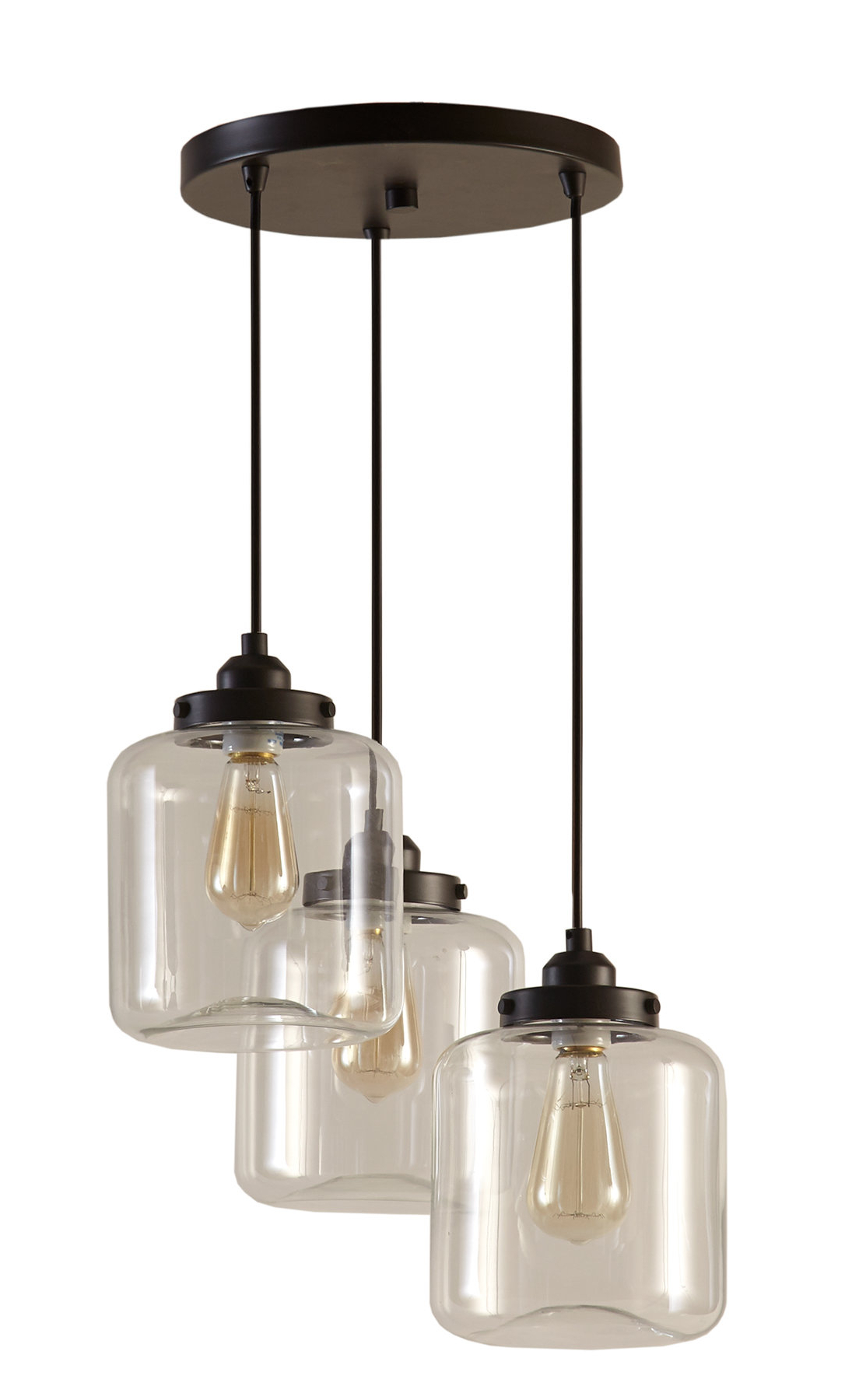 Fashionable Timnath 3 Light Cluster Pendant In Vernice 3 Light Cluster Bell Pendants (View 6 of 25)