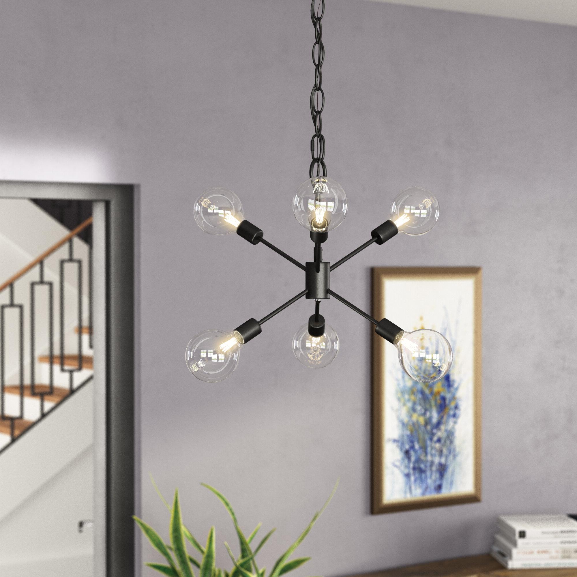 Fashionable Velva 6 Light Sputnik Chandelier Within Johanne 6 Light Sputnik Chandeliers (View 6 of 25)
