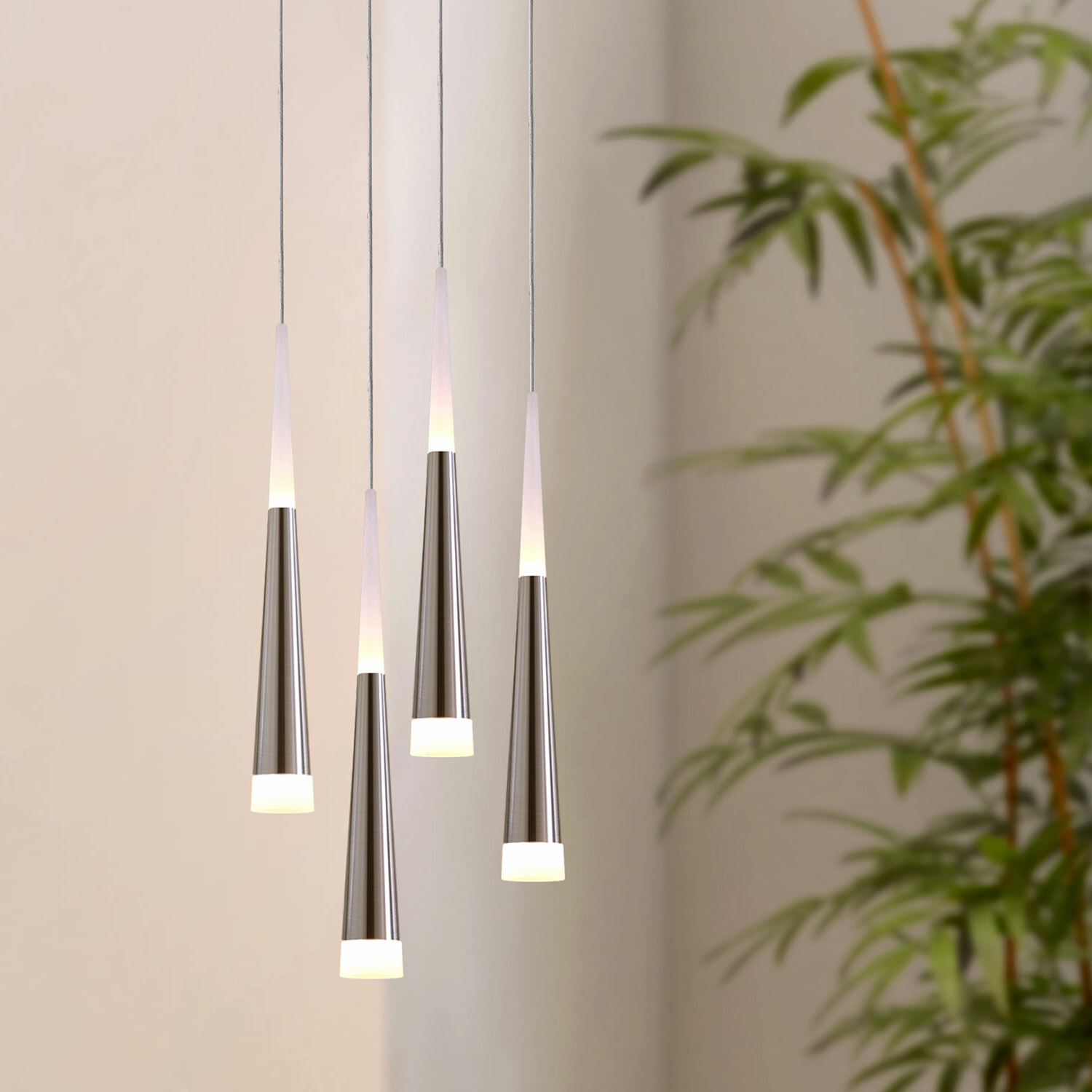 Fashionable Wadley 4 Light Led Cluster Pendant Regarding Schutt 5 Light Cluster Pendants (View 6 of 25)