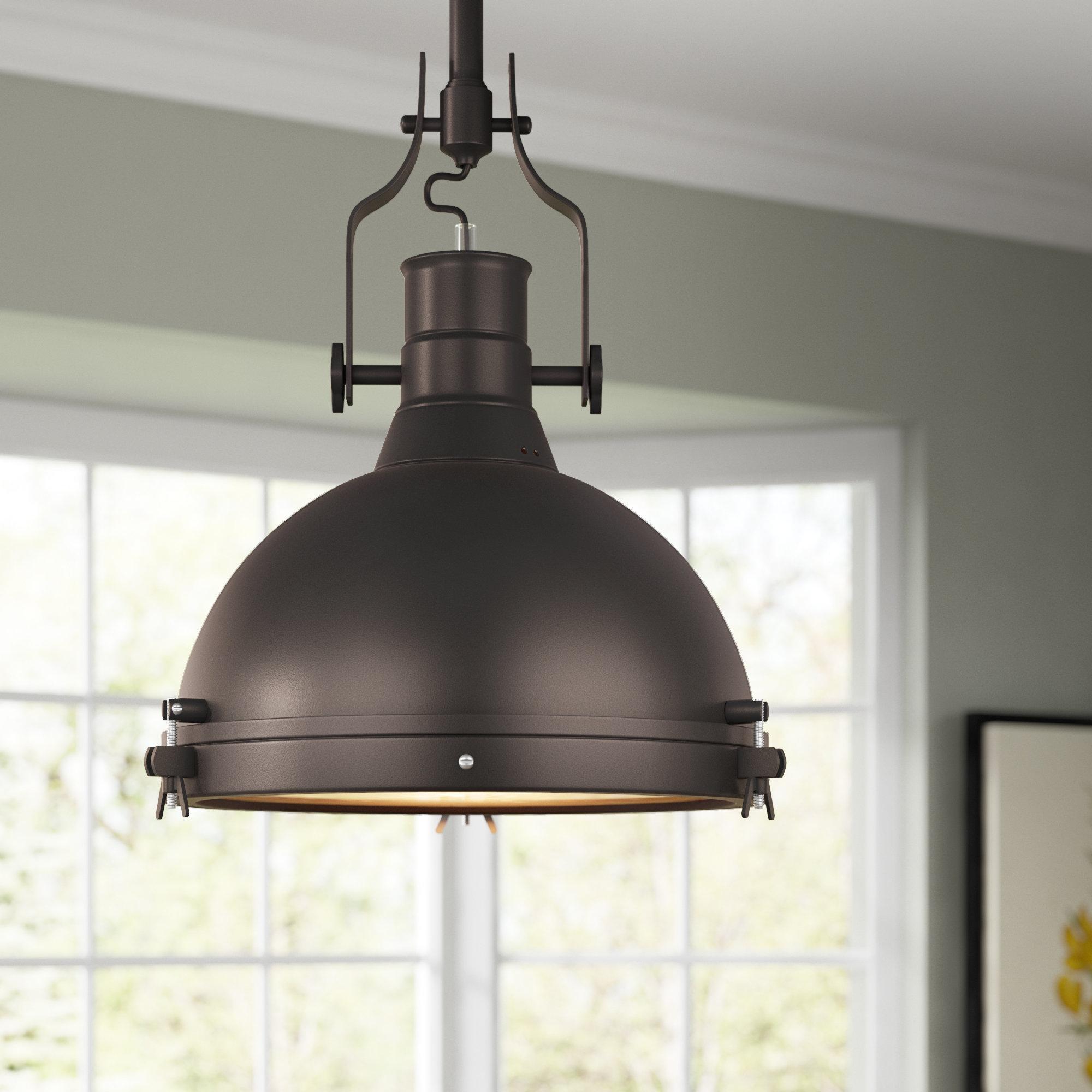 Fashionable Wamblee 1 Light Single Dome Pendant With Freeda 1 Light Single Dome Pendants (View 3 of 25)