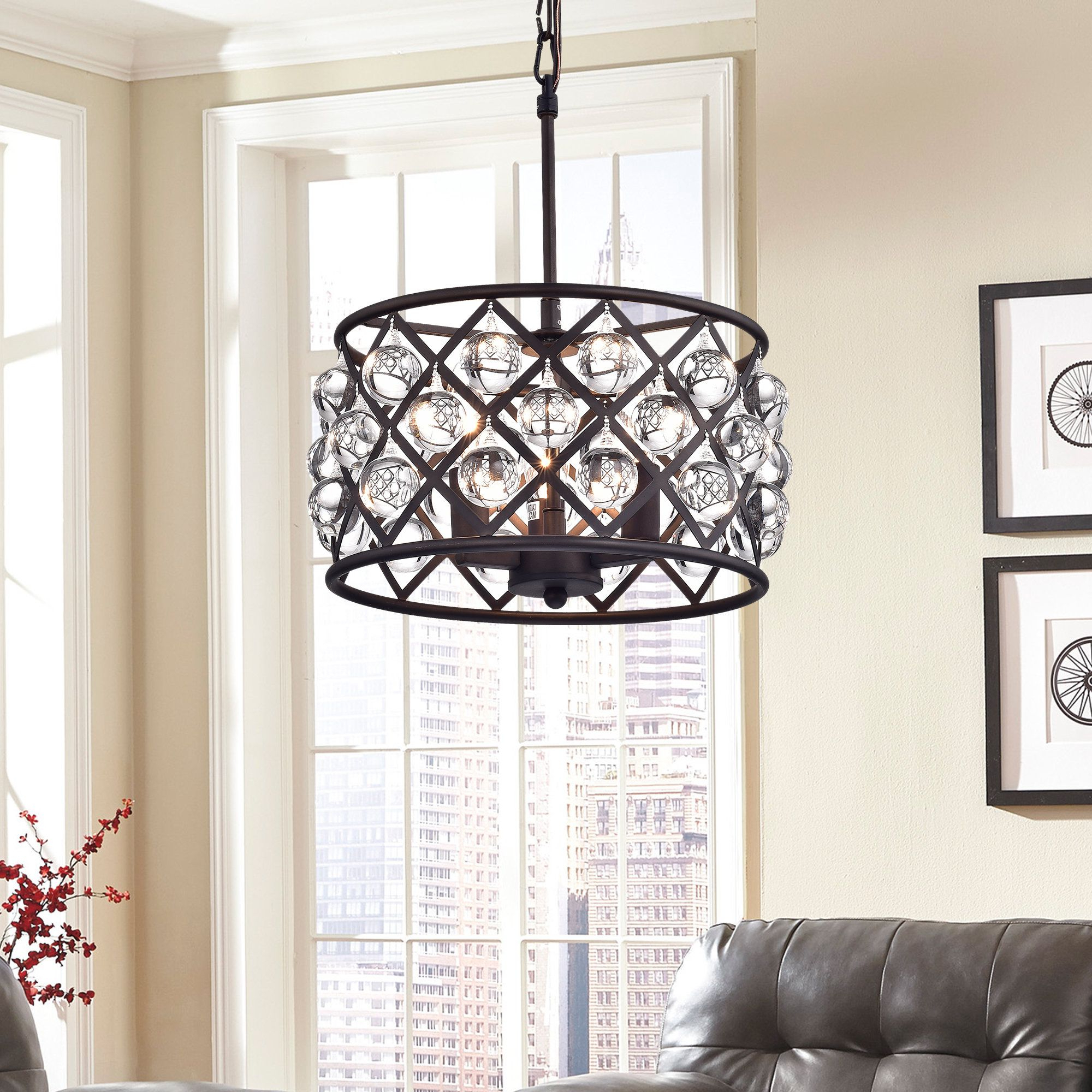 Fashionable Warehouse Of Tiffany Branna Antique Bronze 11 Inch Round Intended For Gisselle 4 Light Drum Chandeliers (View 8 of 25)